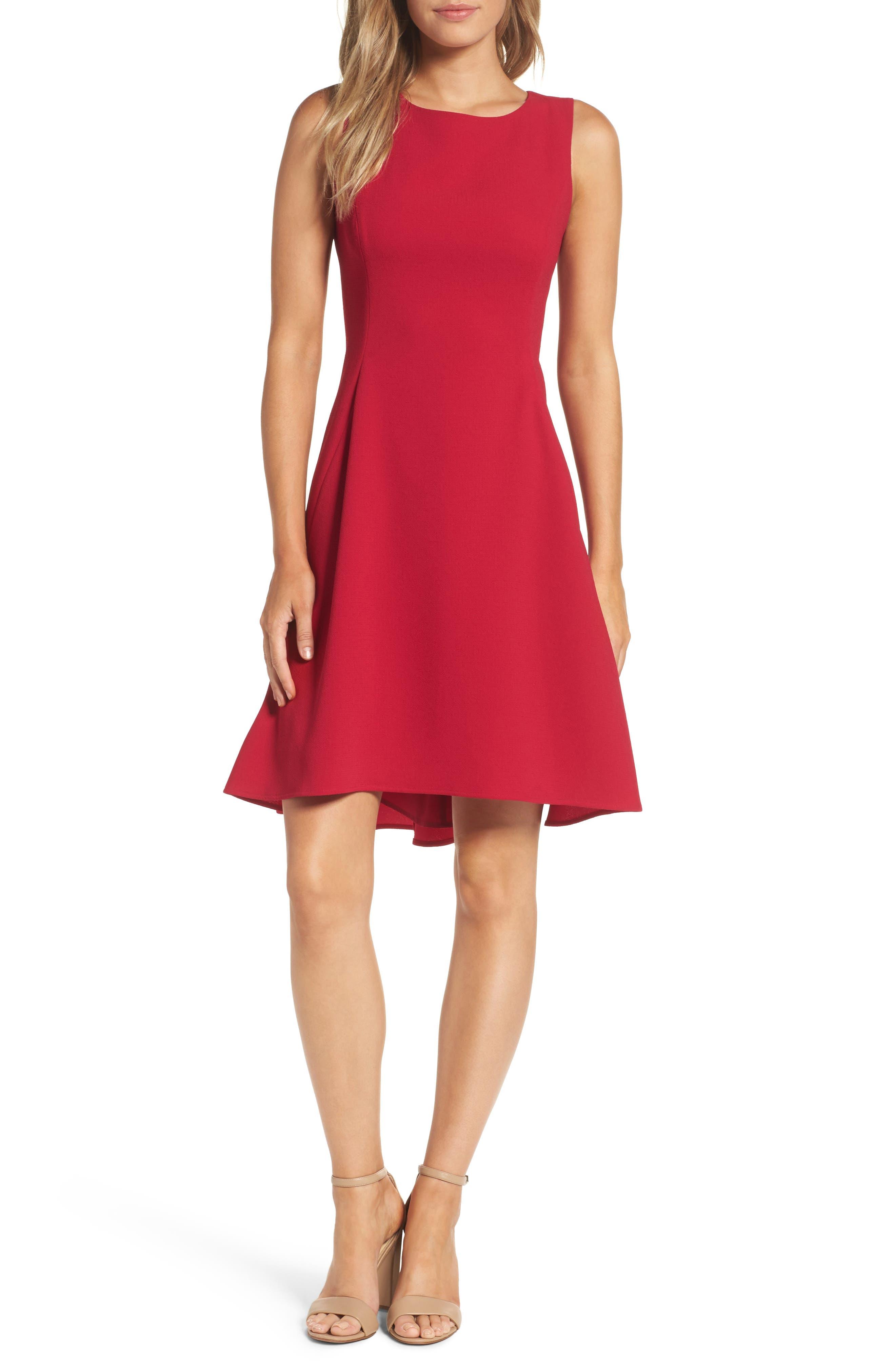 Eliza J Sleeveless A-Line Dress