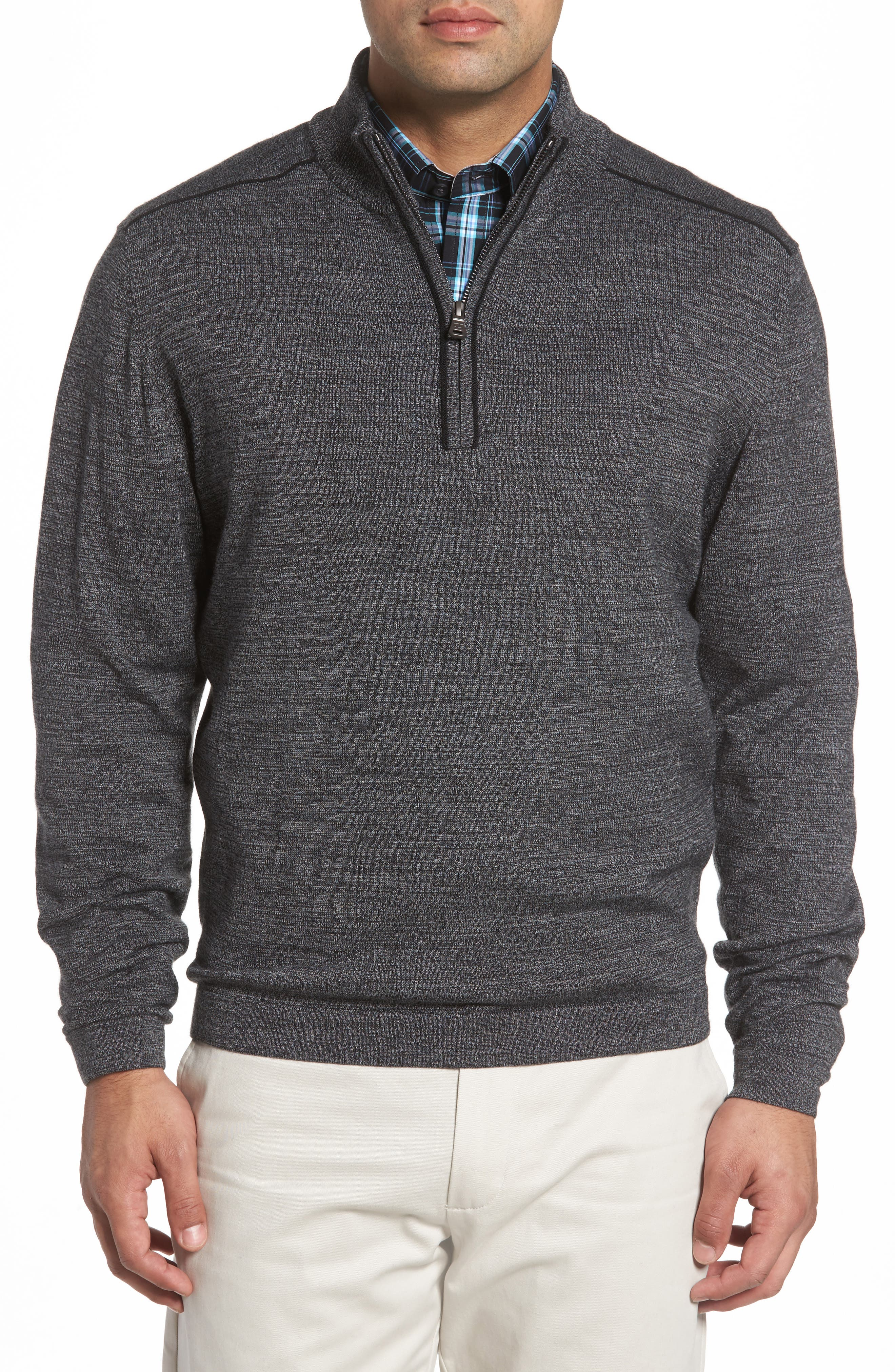 Cutter & Buck Henry Quarter Zip Wool Blend Pullover
