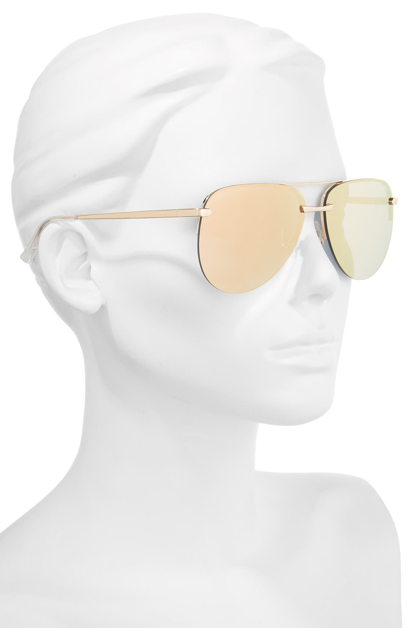 Alternate Image 2  - Quay Australia The Playa 64mm Aviator Sunglasses