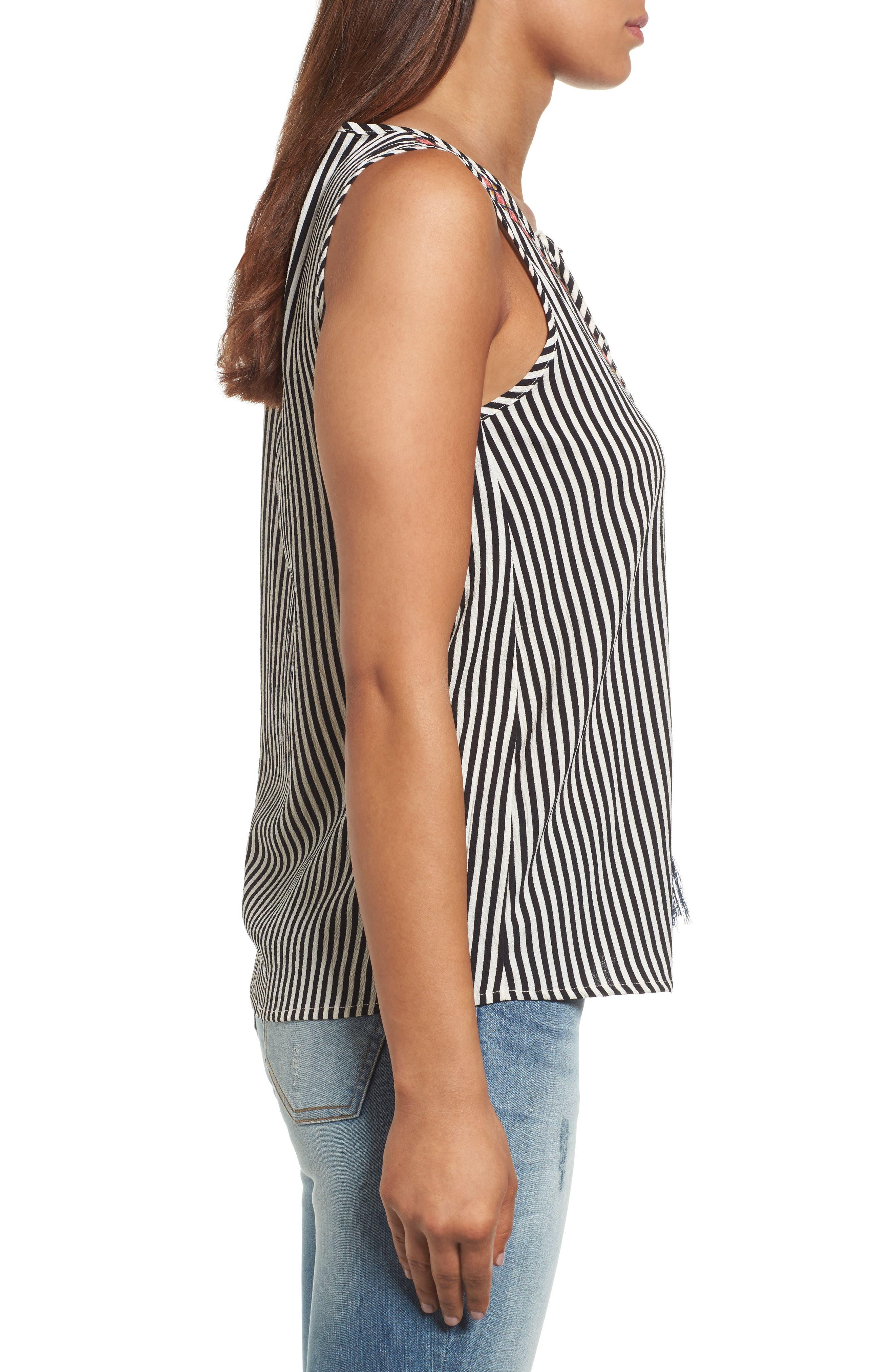 Alternate Image 3  - THML Tassel Tie Stripe Top