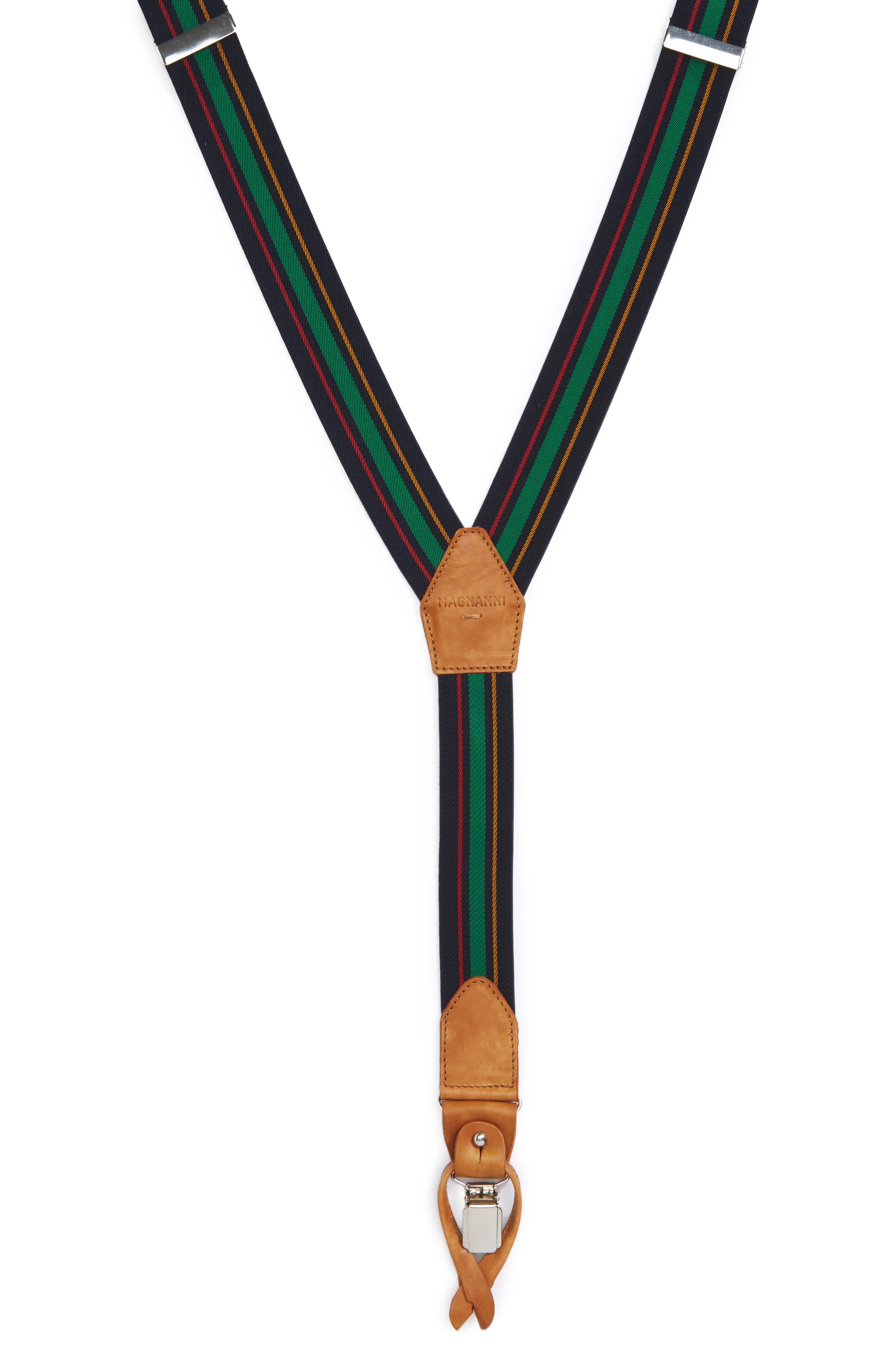 Magnanni Stripe Suspenders