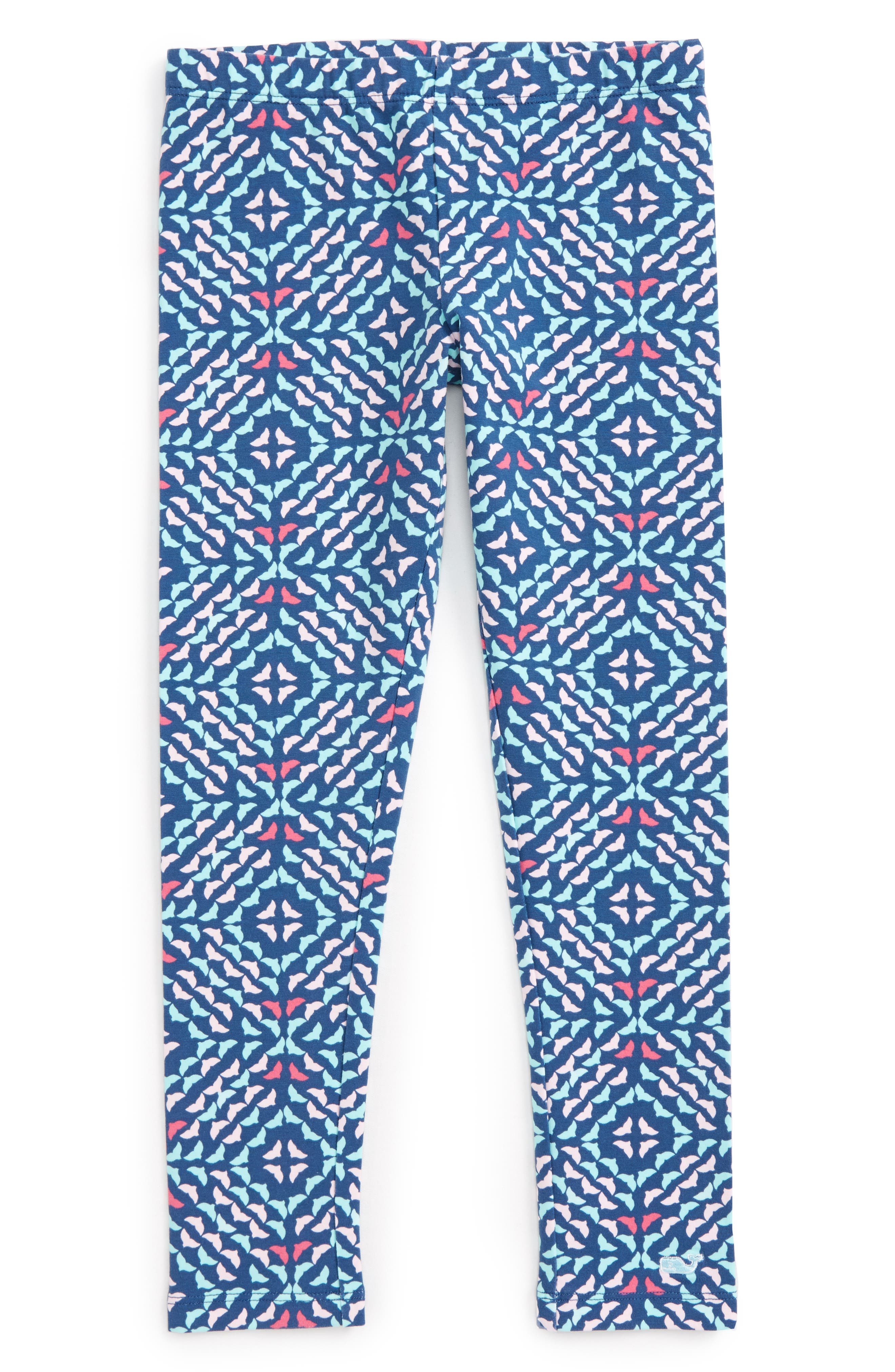 Vineyard Vines Whale Tail Print Stretch Cotton Leggings (Little Girls & Big Girls)