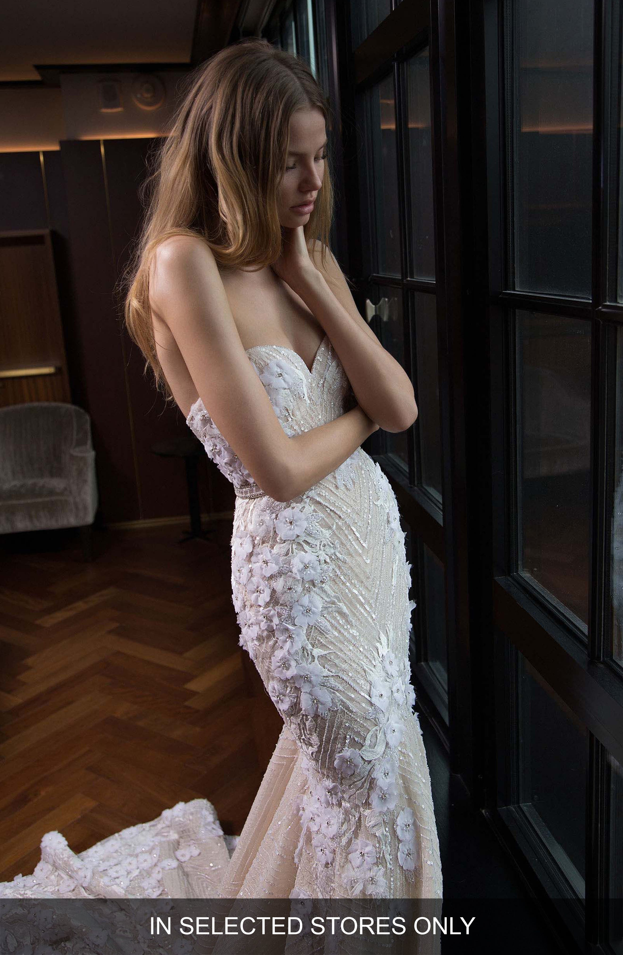 Berta Embellished Lace Mermaid Gown (In Selected Stores Only)