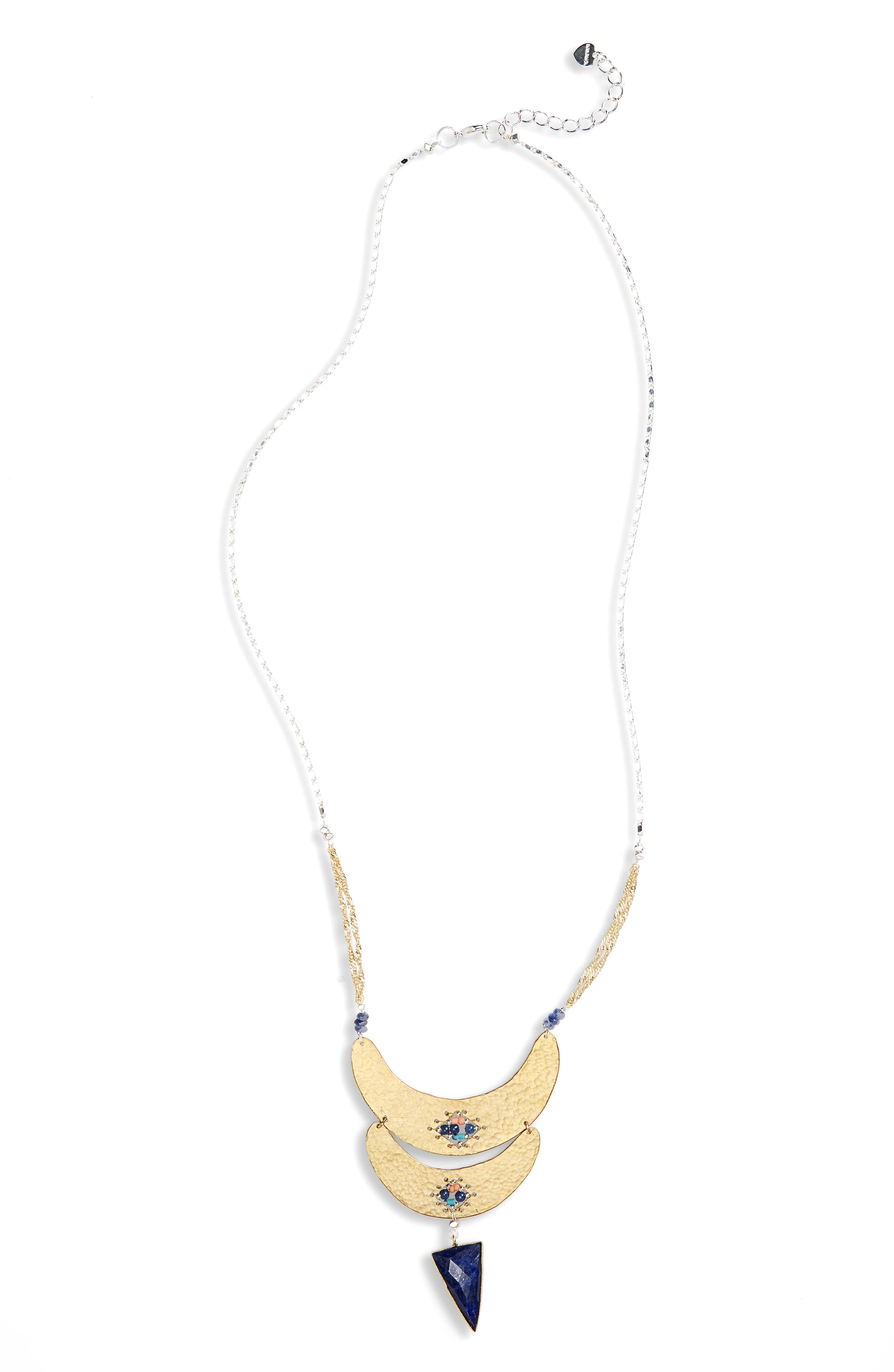 Nakamol Design Plate Howlite Statement Necklace