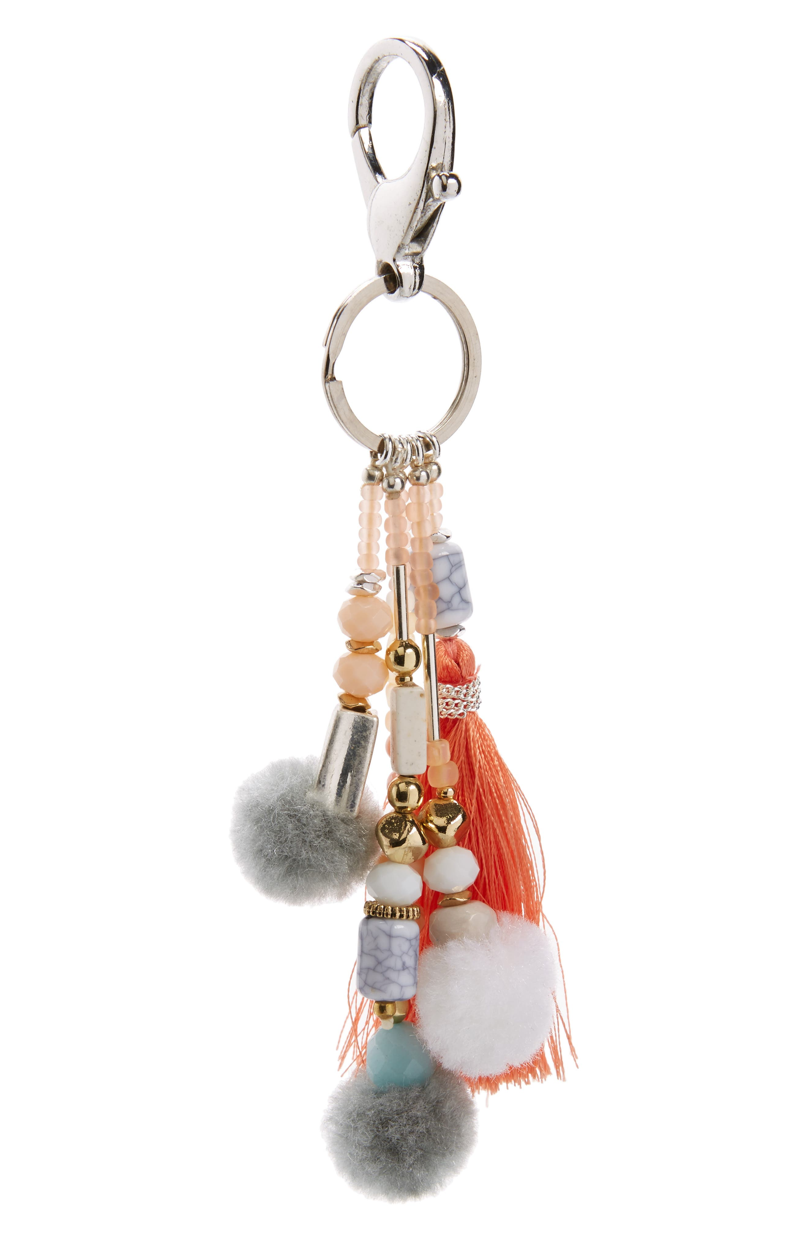 Nakamol Design Tassel Pom Bag Charm