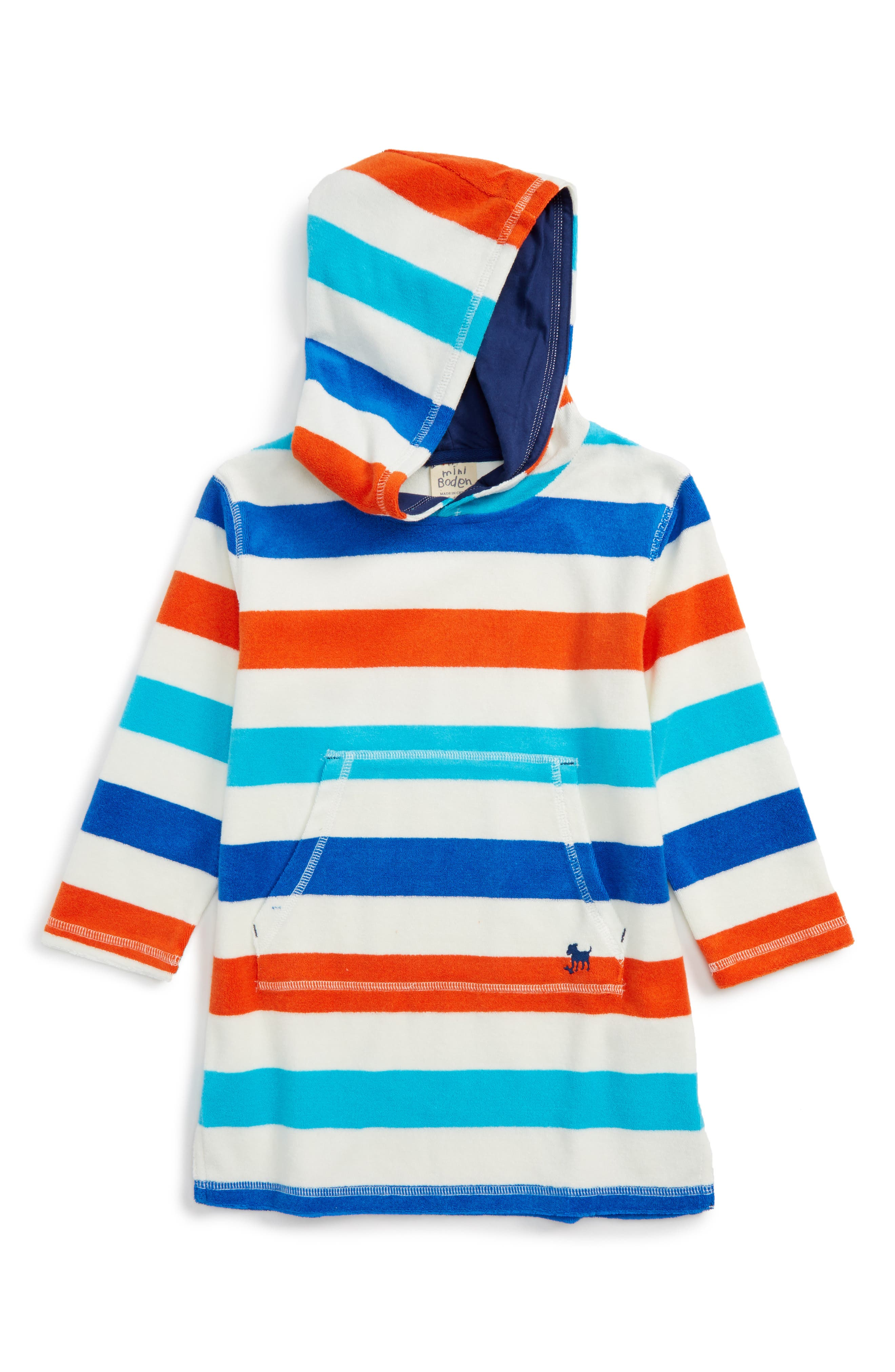 Mini Boden Towelling Cover-Up Hoodie (Toddler Boys, Little Boys & Big Boys)