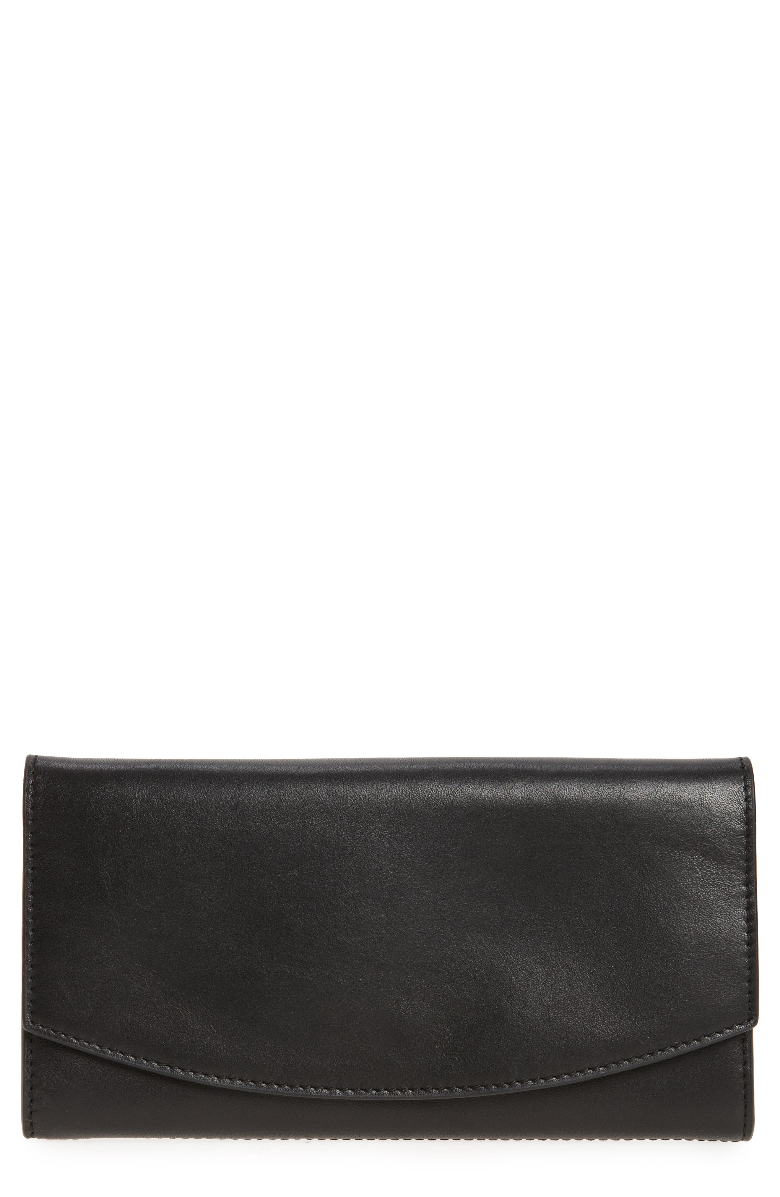 Skagen Leather Continental Flap Wallet