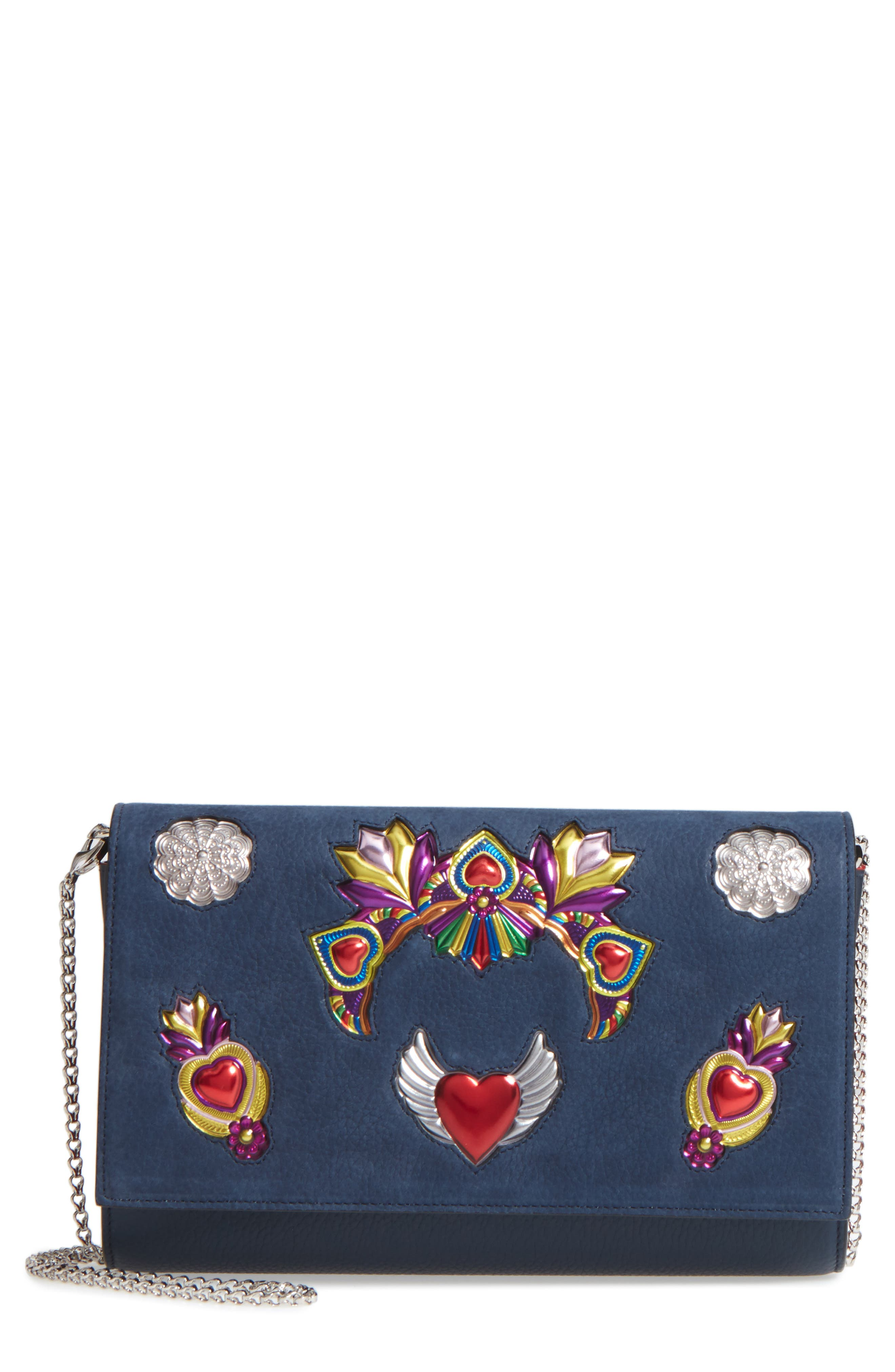 Christian Louboutin Mexiloubi Paloma Leather Clutch