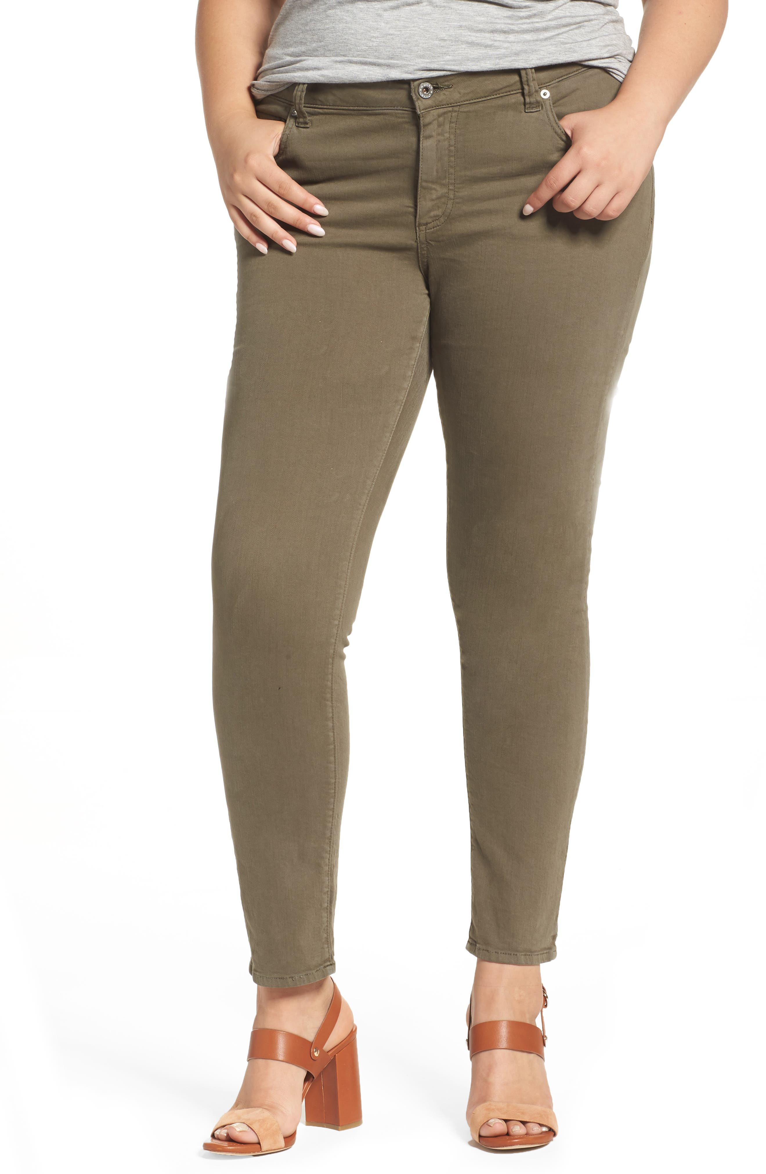 Lucky Brand Ginger Skinny Jeans (Pine Hill) (Plus Size)