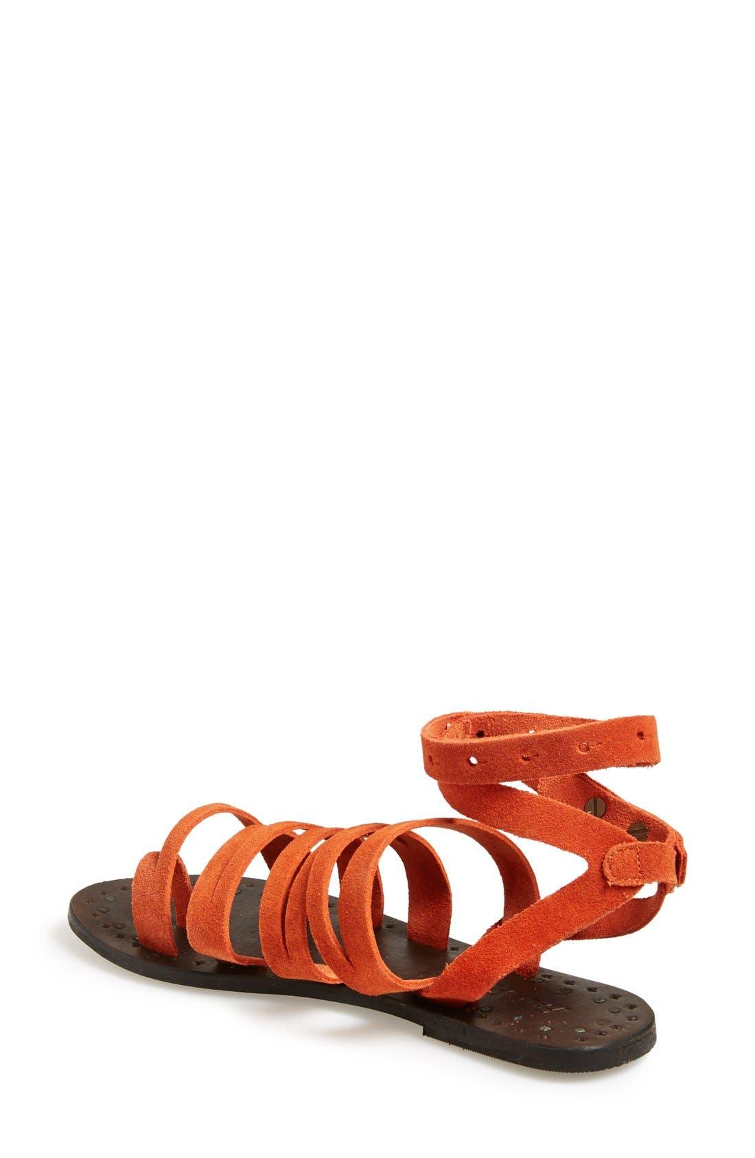 Alternate Image 2  - Free People 'Sunever' Leather Gladiator Sandal (Women)