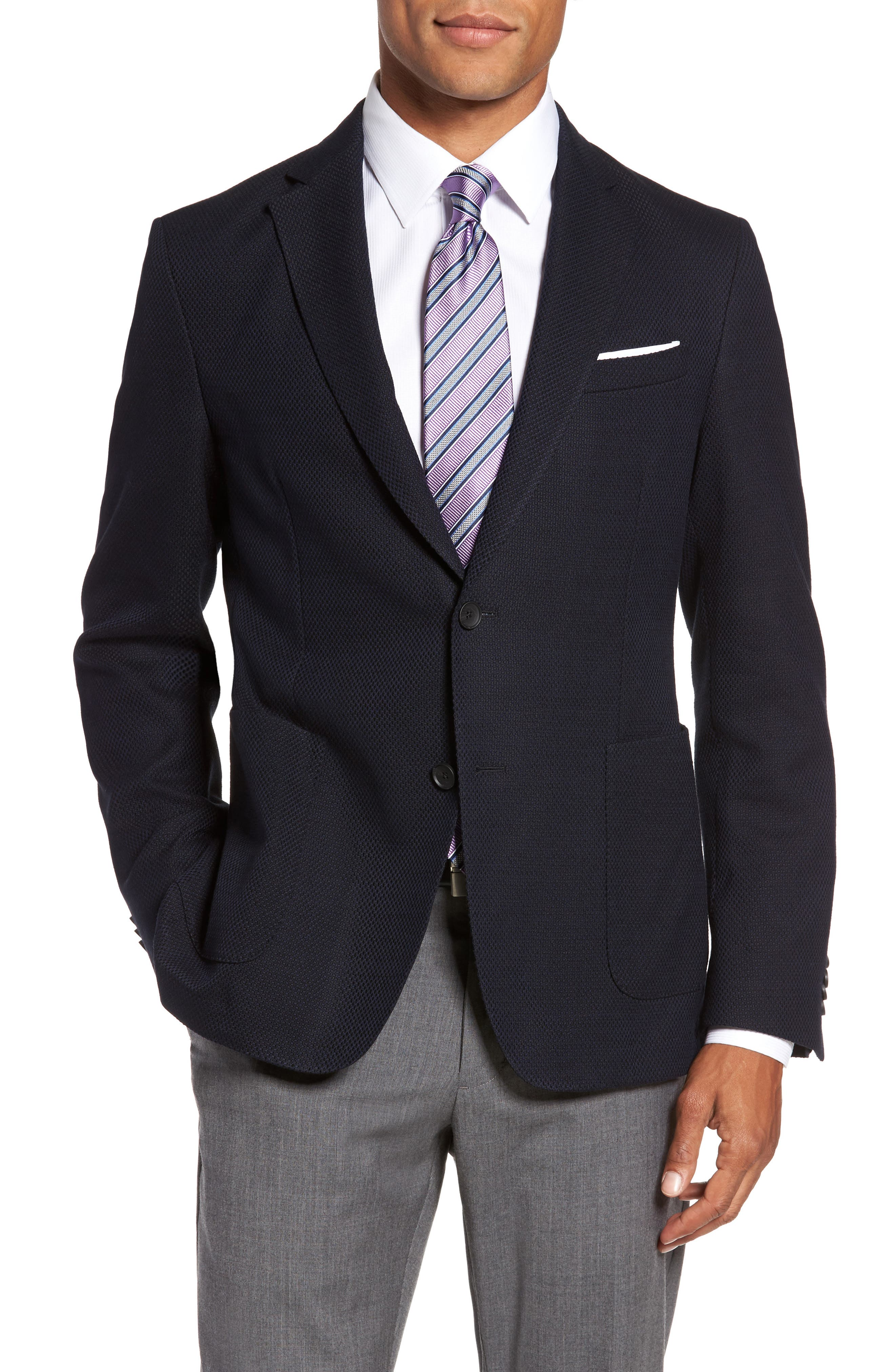 BOSS Jeen Trim Fit Wool Blend Sport Coat