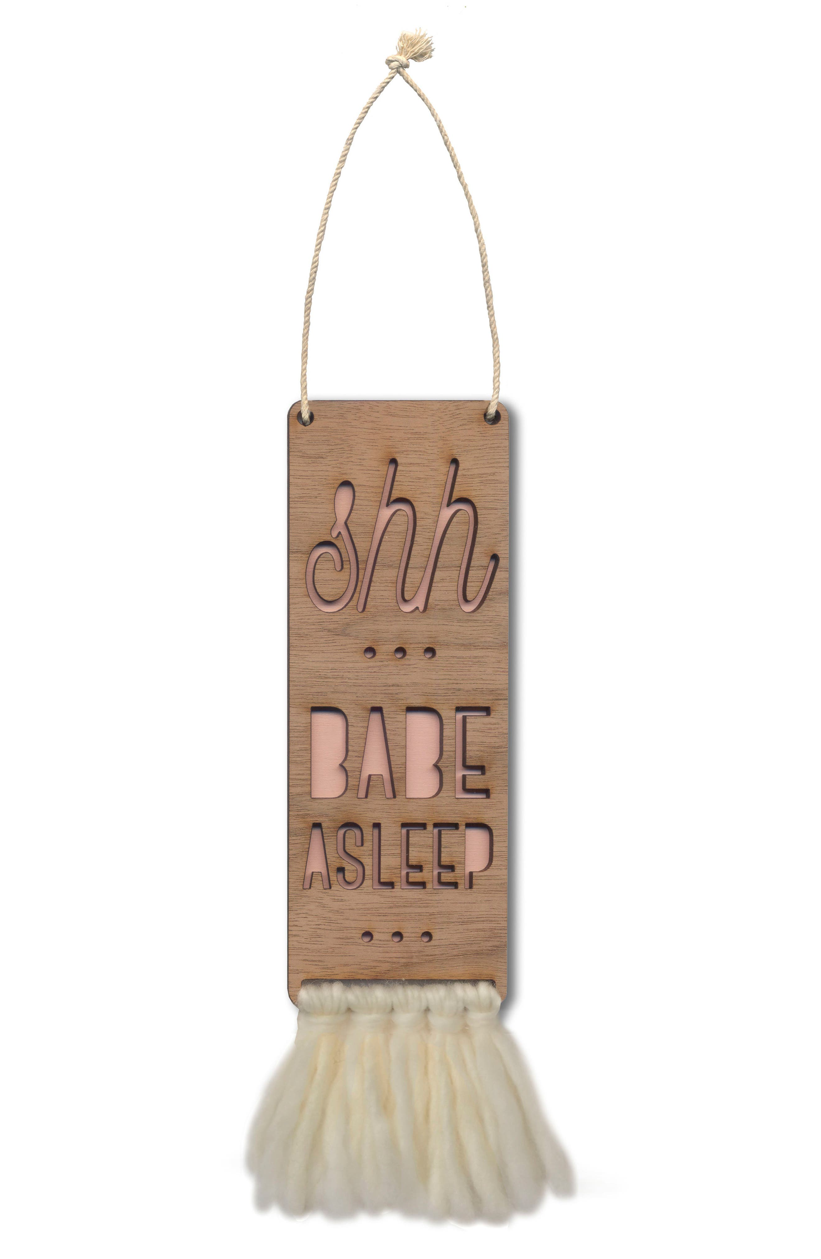 Tree by Kerri Lee Shh Babe Asleep Door Sign
