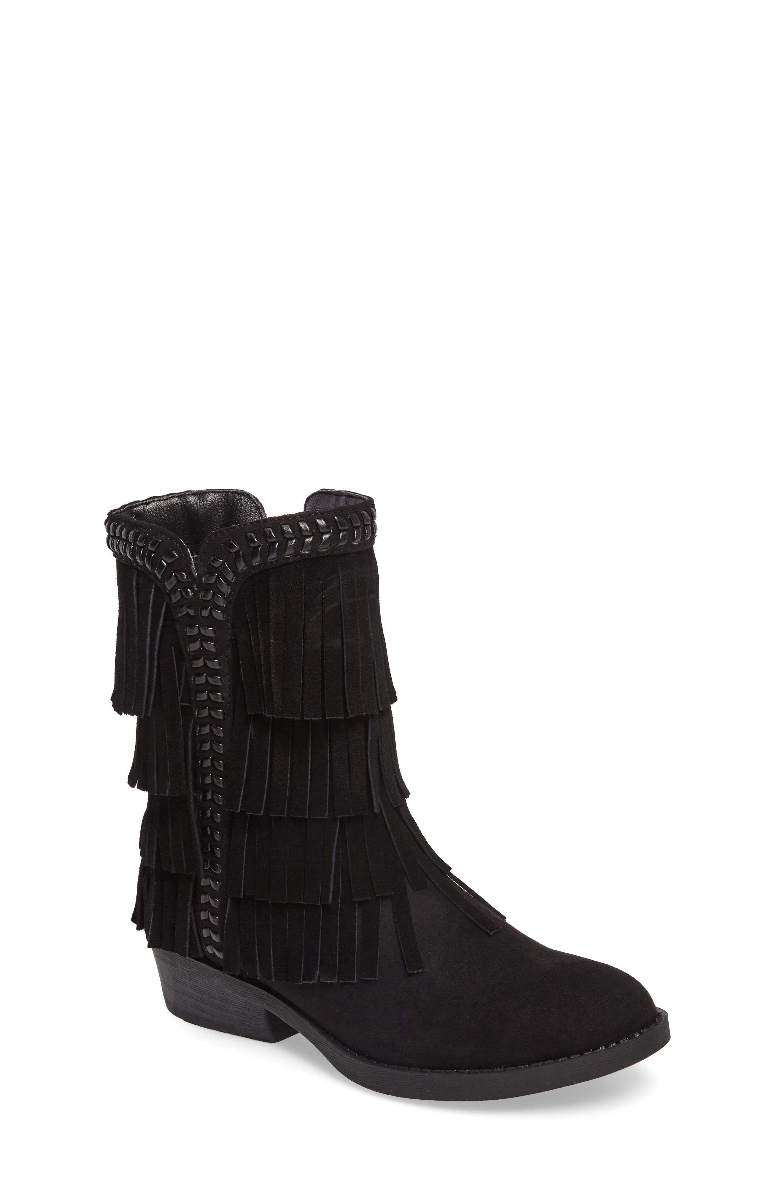 Sam Edelman Becka Kasey Fringe Bootie (Toddler, Little Kid & Big Kid)