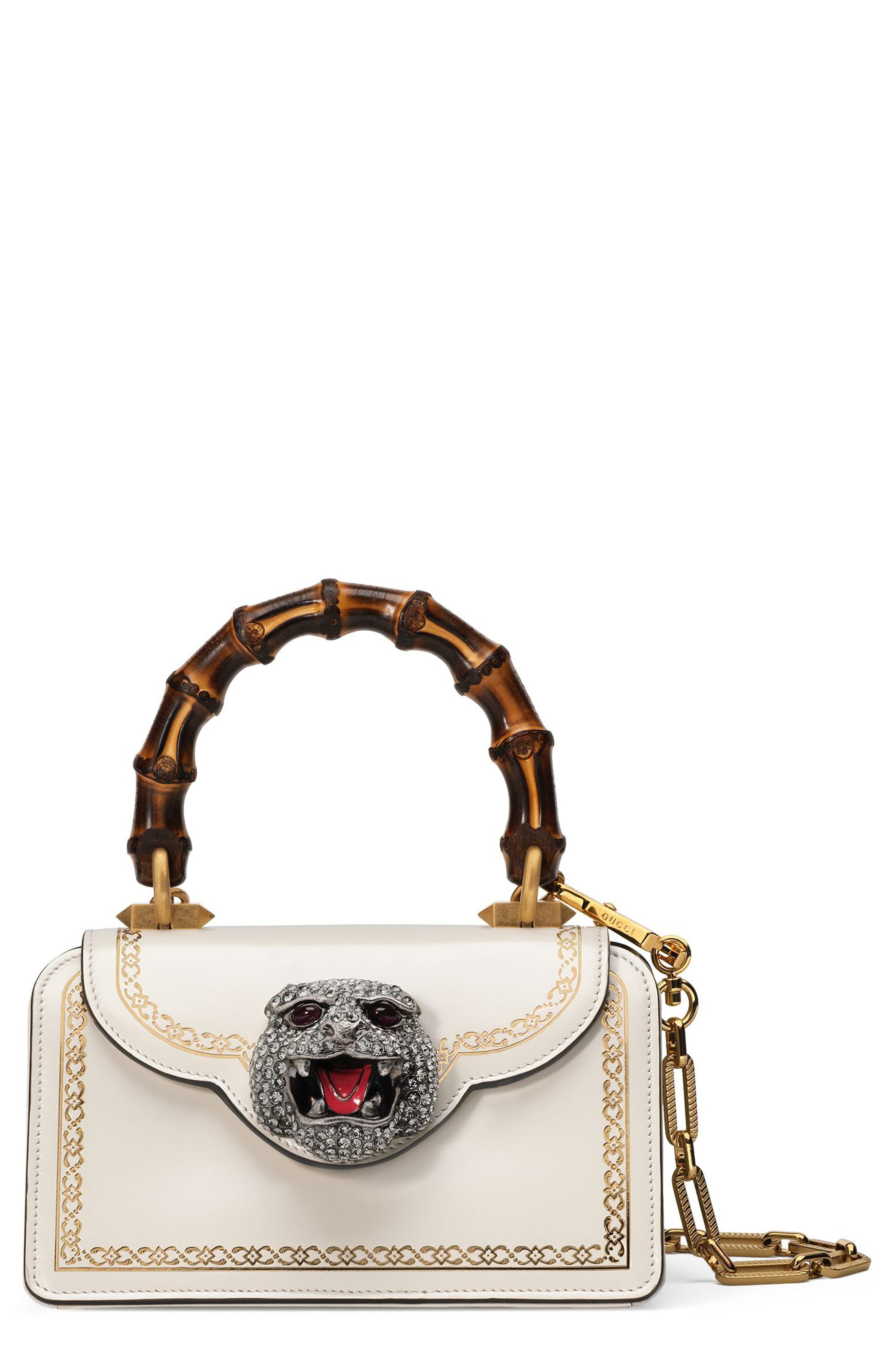 Gucci Mini Gatto Top Handle Leather Satchel