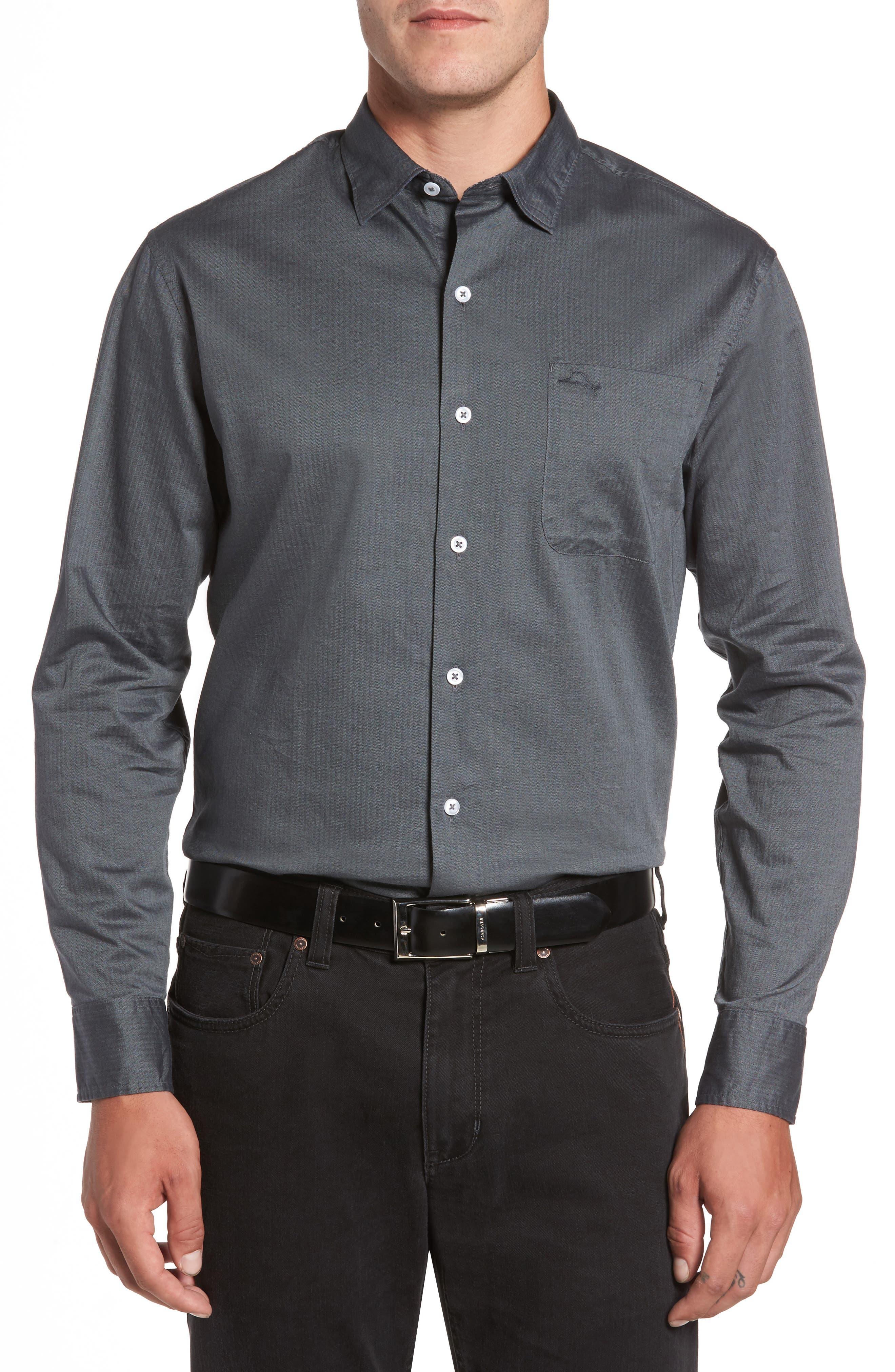 Tommy Bahama Capeside Herringbone Sport Shirt