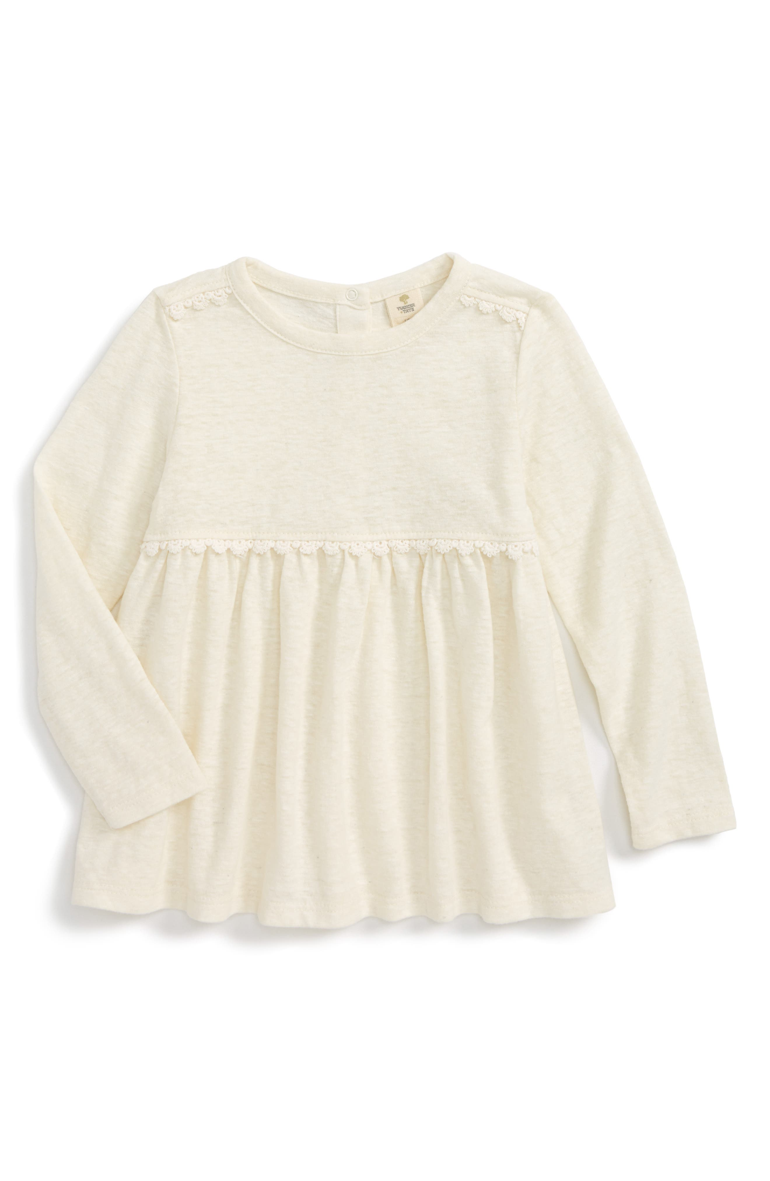 Tucker + Tate Lace Trim Tunic (Baby Girls)