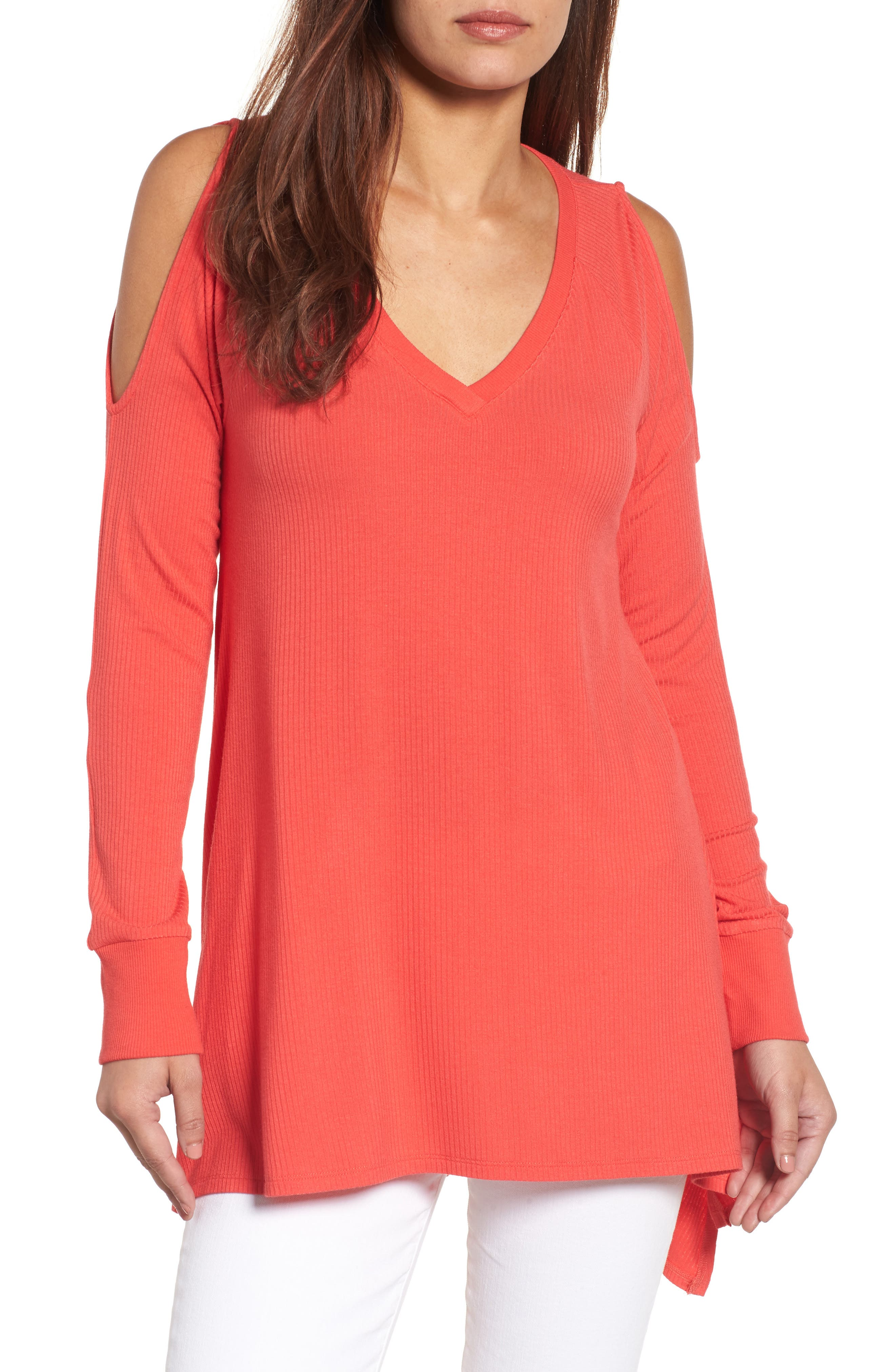Caslon® Cold Shoulder Tunic