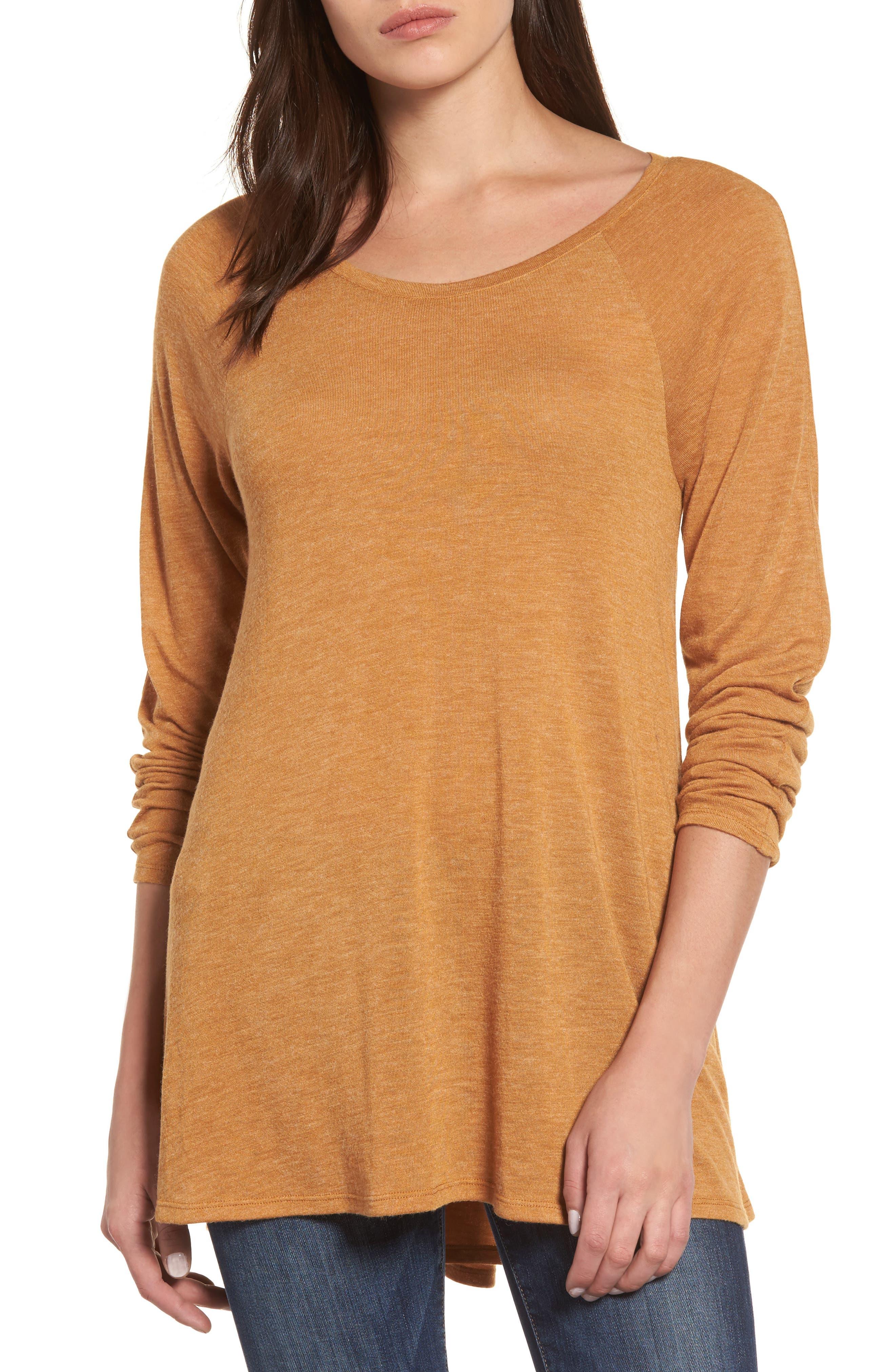 Caslon® High/Low Tunic Sweatshirt