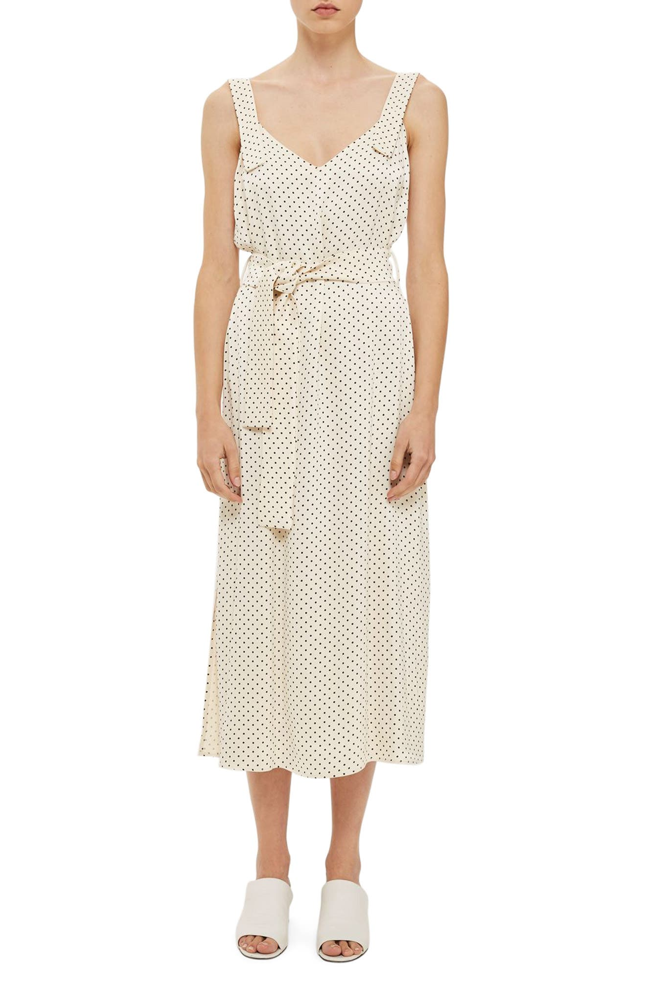 Topshop Boutique Polka Dot Maxi Slipdress