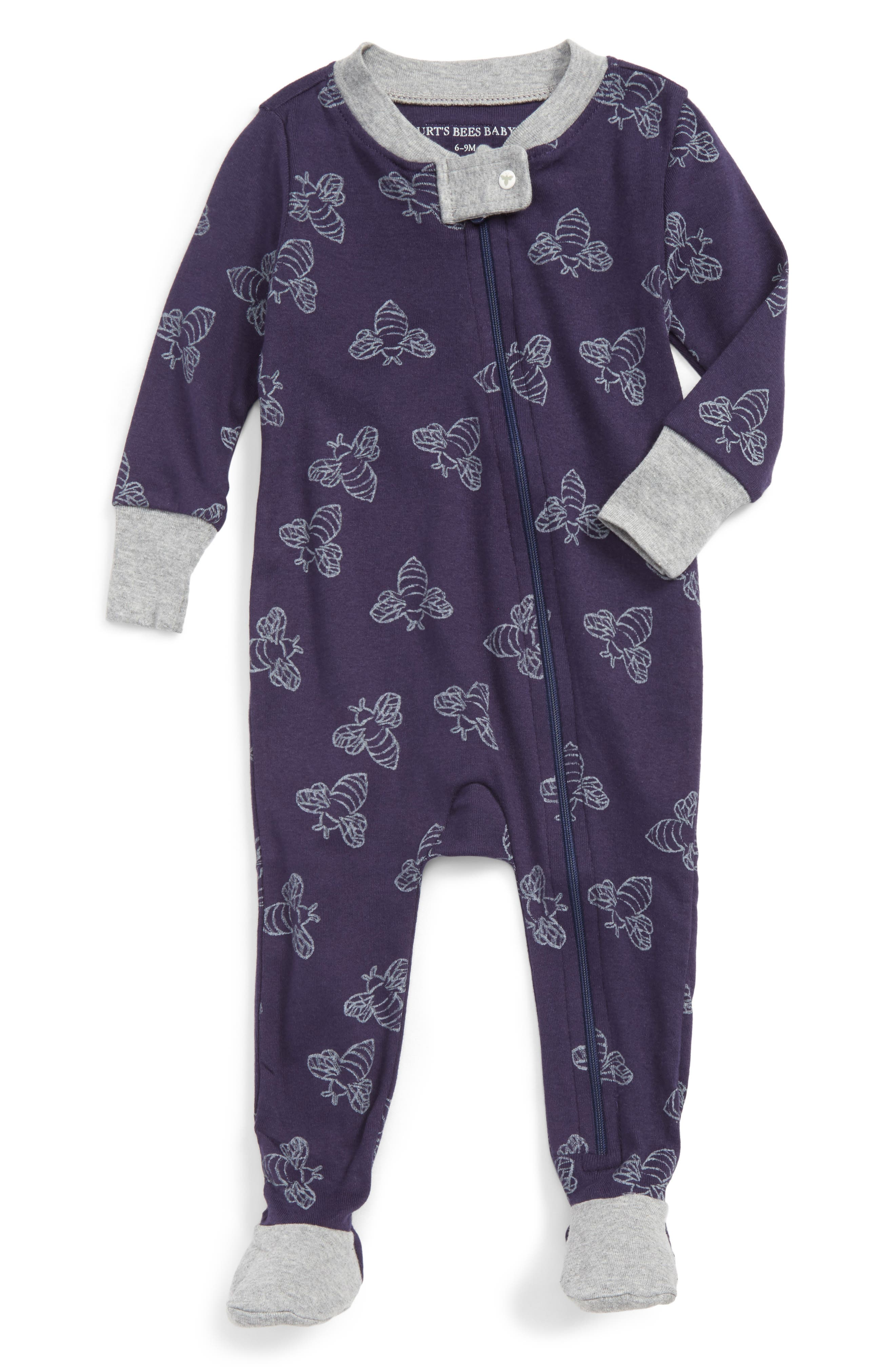 Burt's Bees Baby Watercolor Organic Cotton Fitted One-Piece Pajamas (Baby Boys)