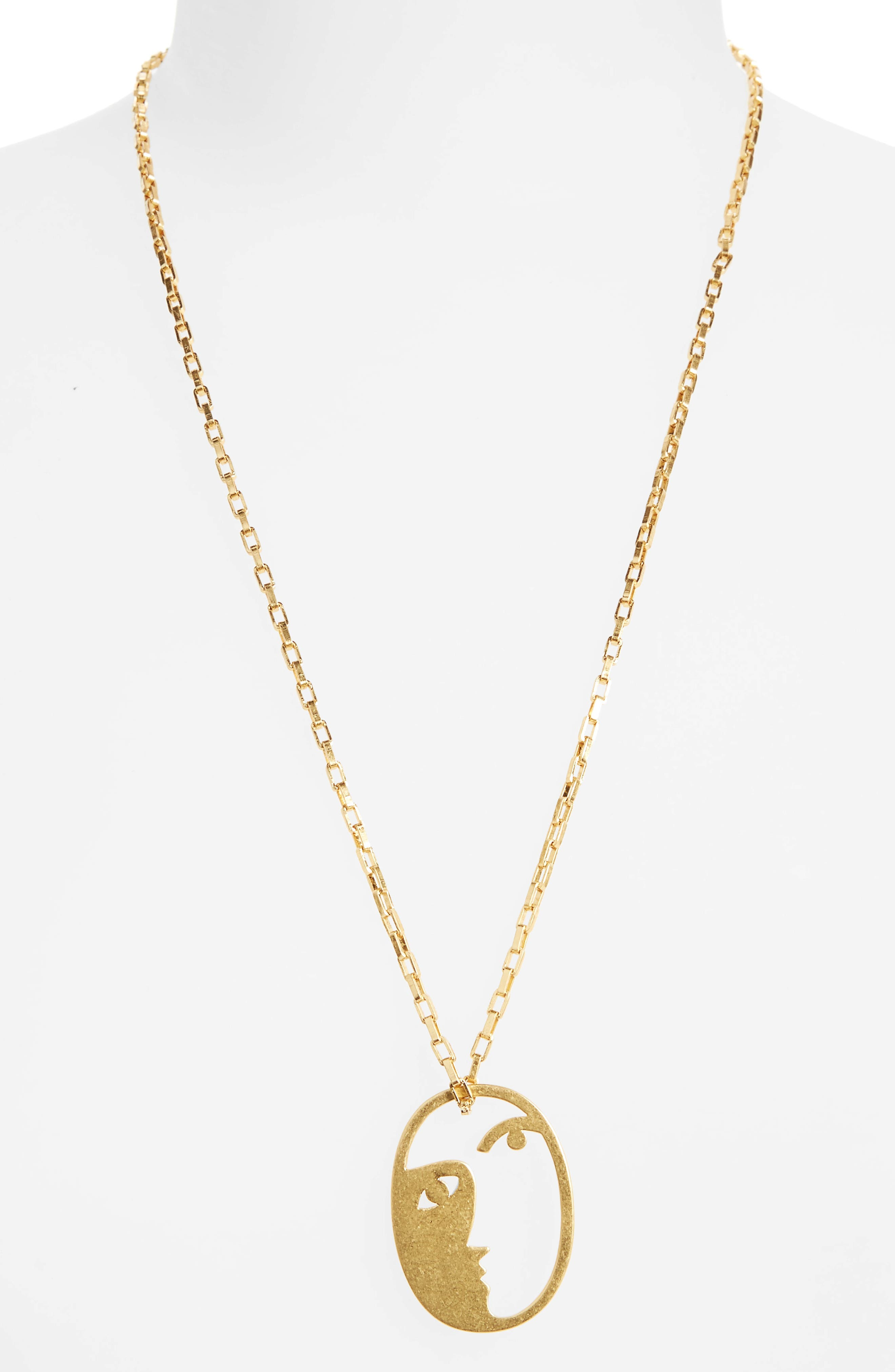 Madewell Face It Pendant Necklace