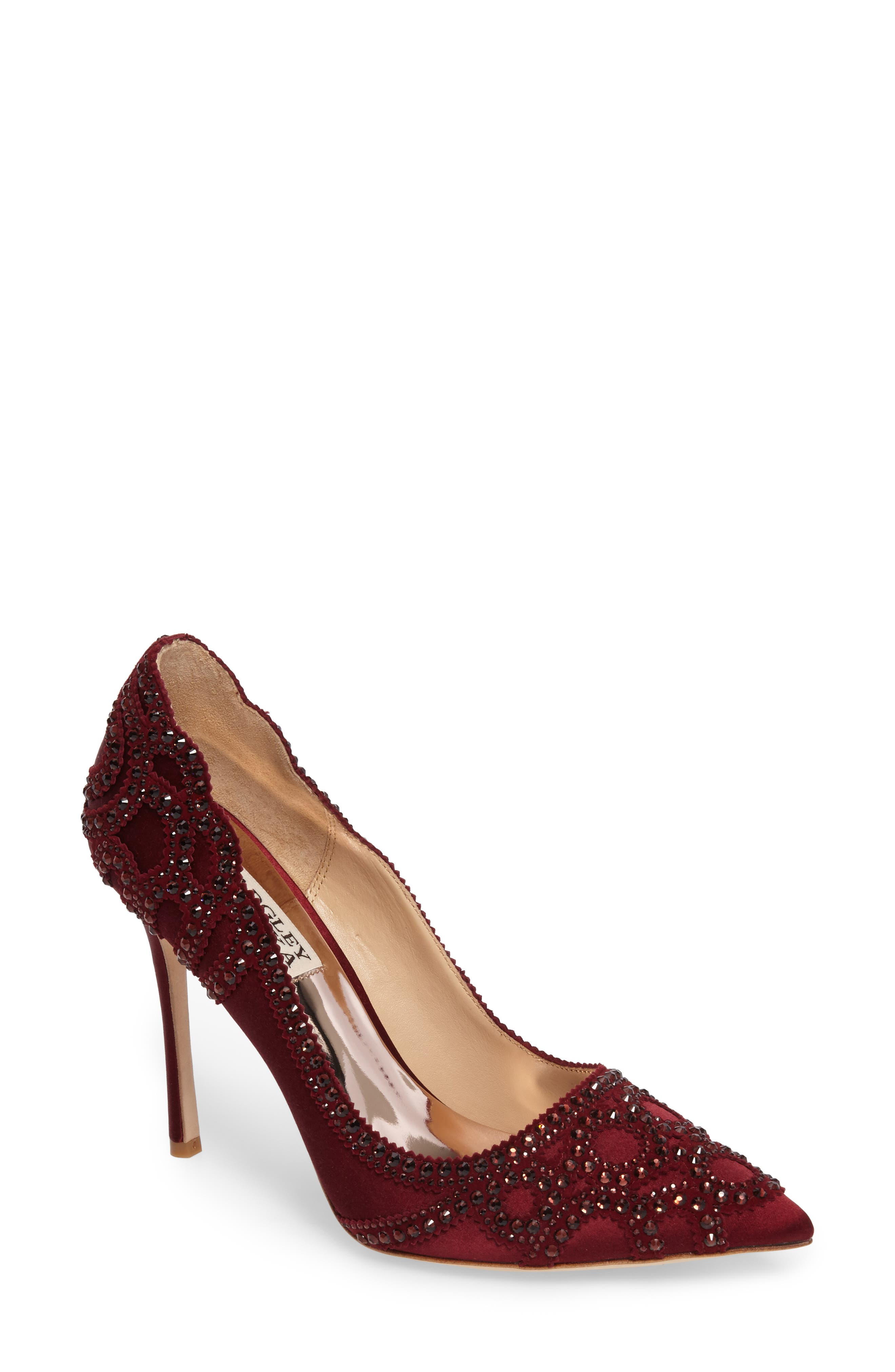 Badgley Mischka 'Rouge' Pointy Toe Pump (Women)