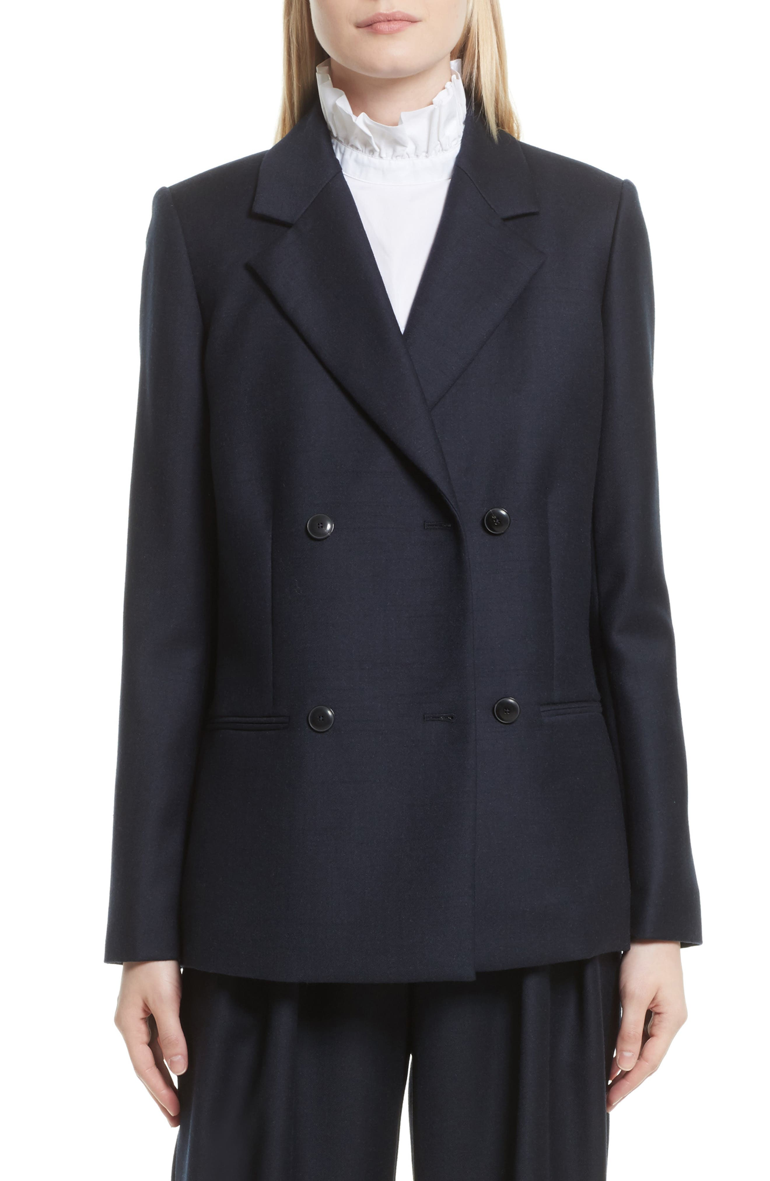 FRAME Double Breasted Wool Jacket
