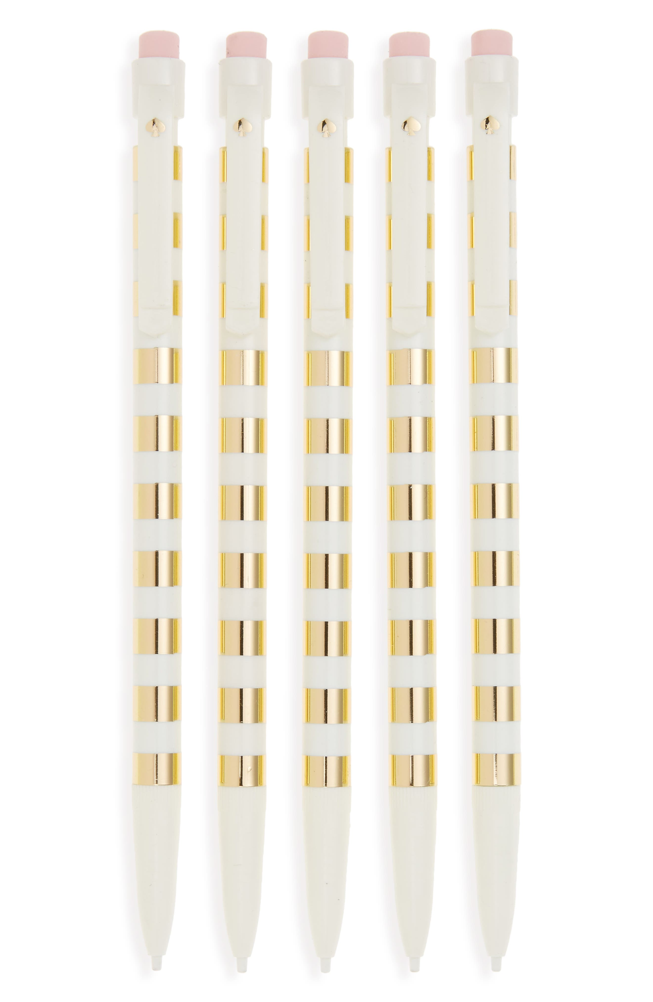 kate spade new york set of 5 mechanical pencils