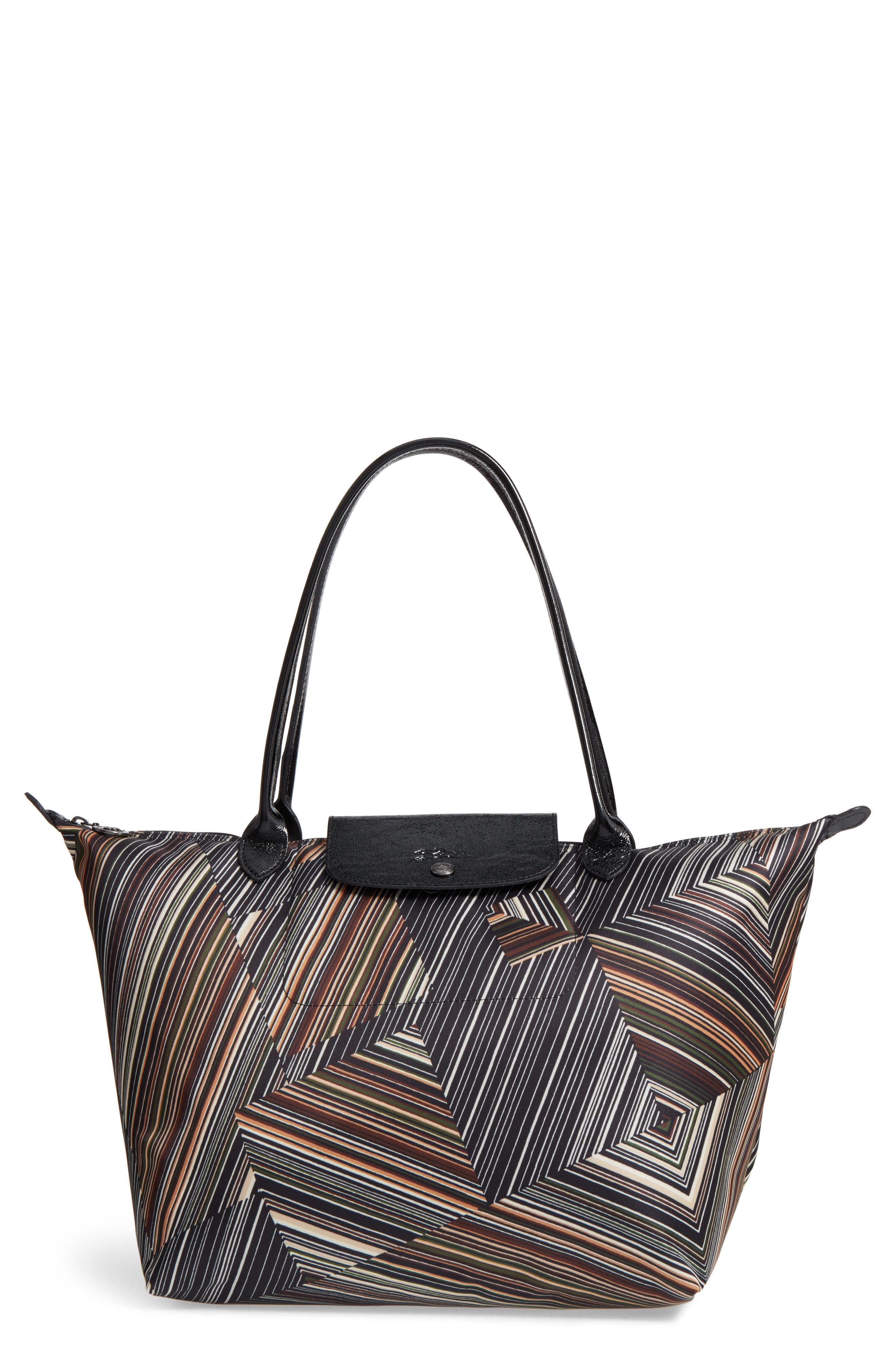 Longchamp Large Op Art Nylon Tote