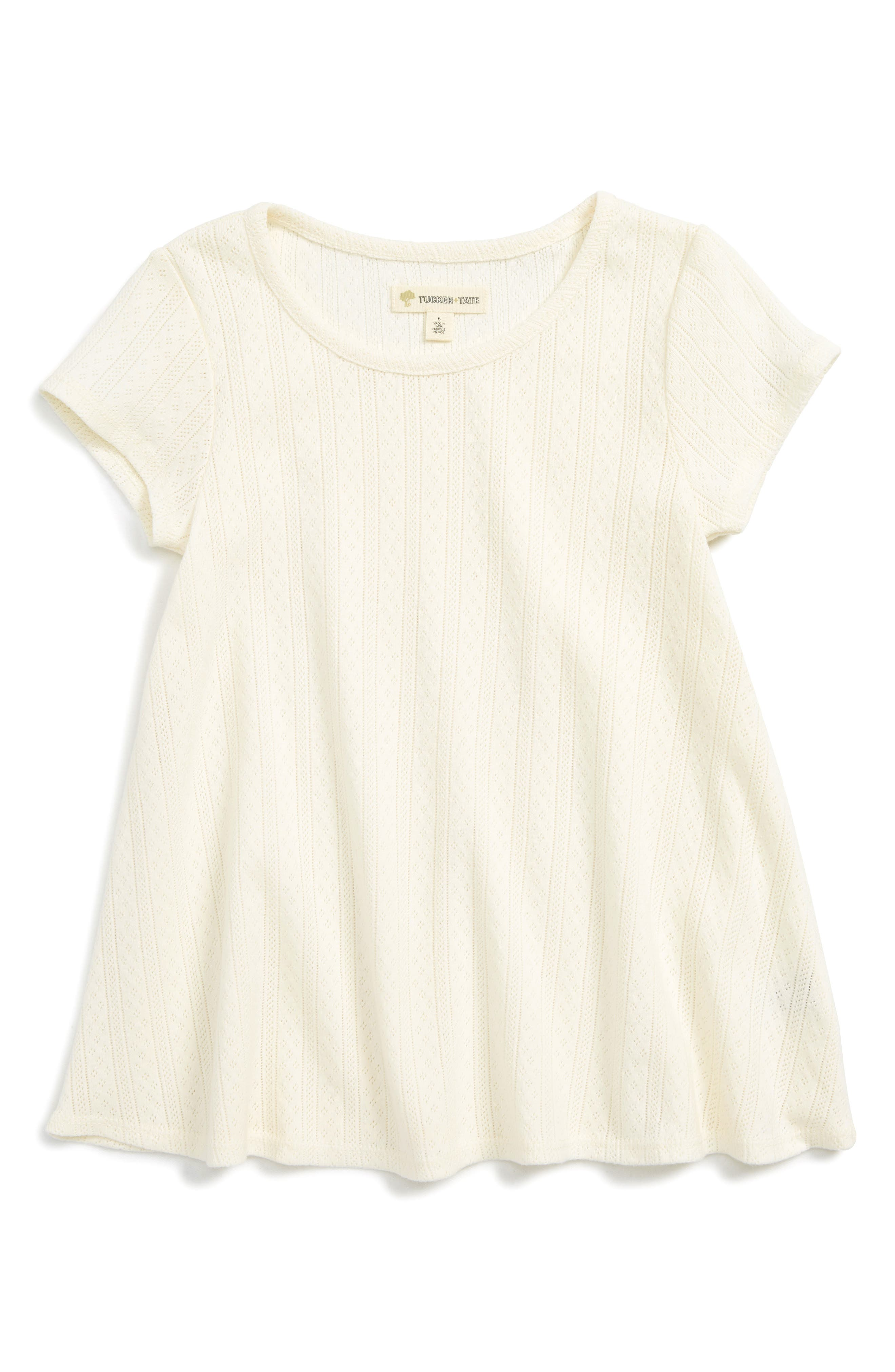 Tucker + Tate Pointelle Tee (Toddler Girls, Little Girls & Big Girls)