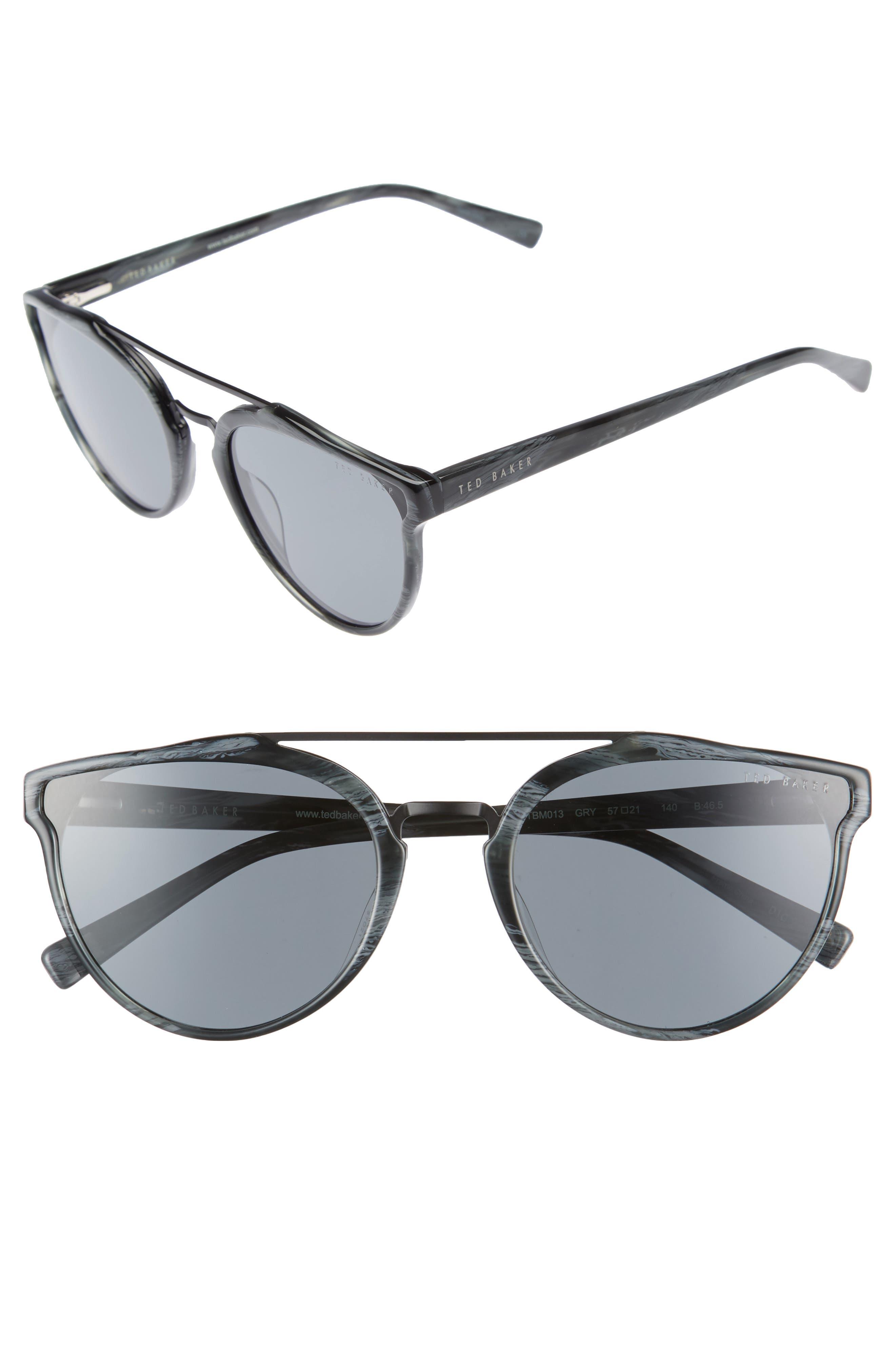 Ted Baker London Retro 57mm Polarized Sunglasses