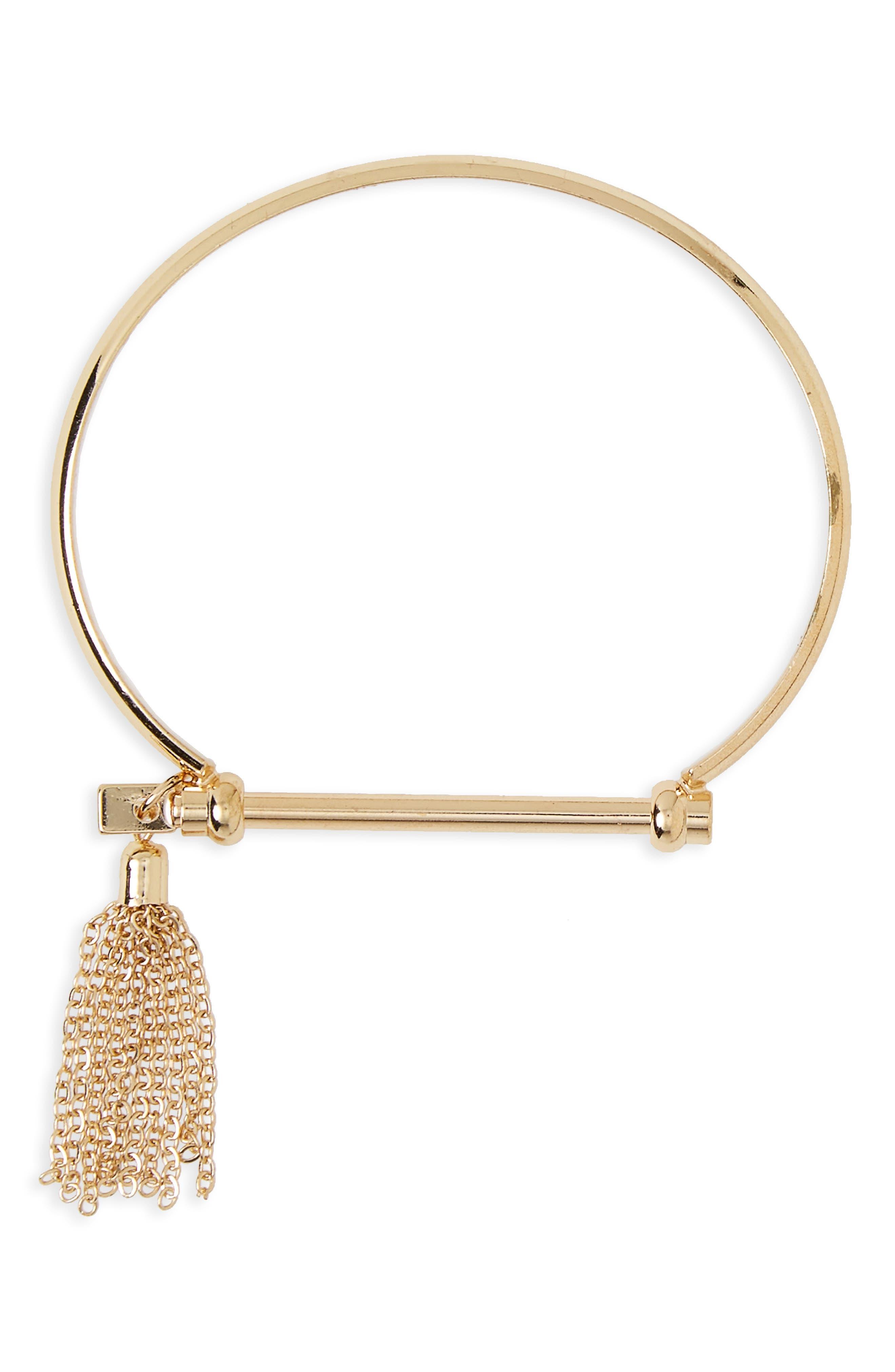 BP. Metal Tassel Bracelet