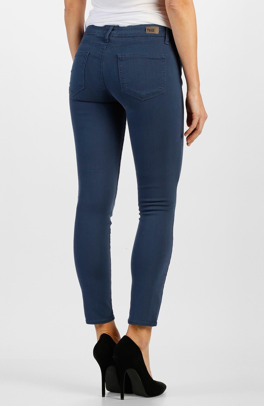 Alternate Image 2  - Paige Denim 'Verdugo' Ankle Ultra Skinny Jeans (Cornflower Blue)