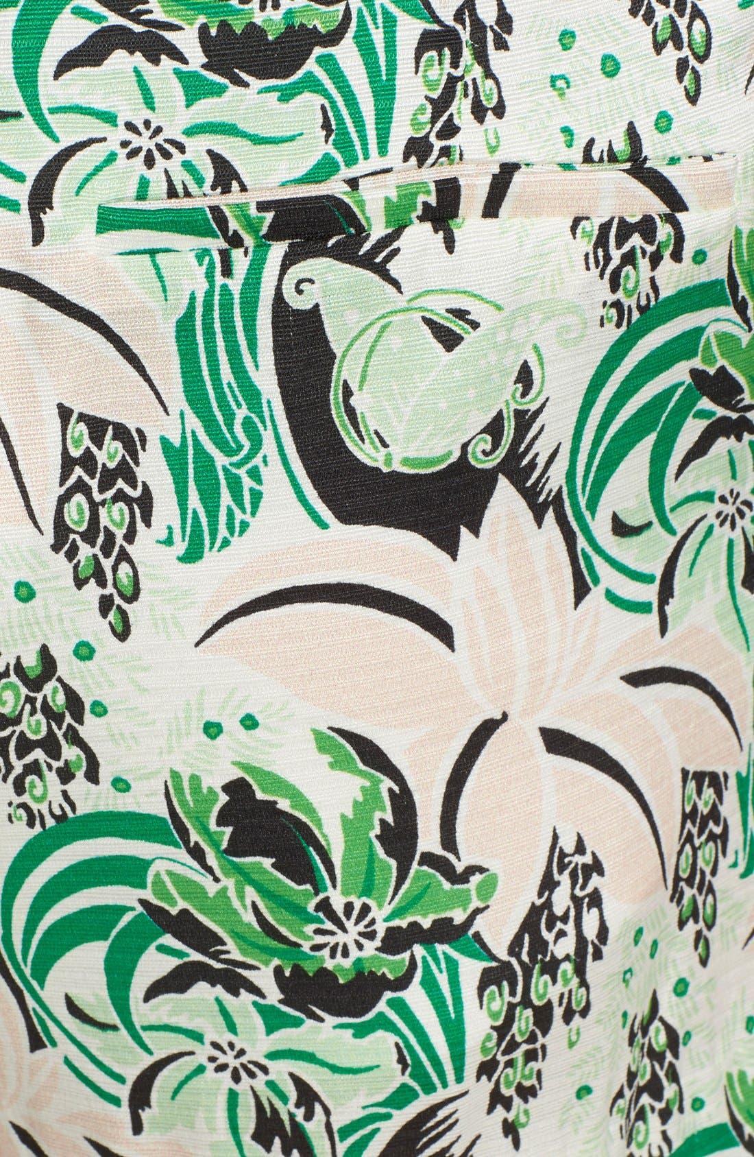 Alternate Image 4  - Veronica Beard Palm Garden Print Pleated Skort