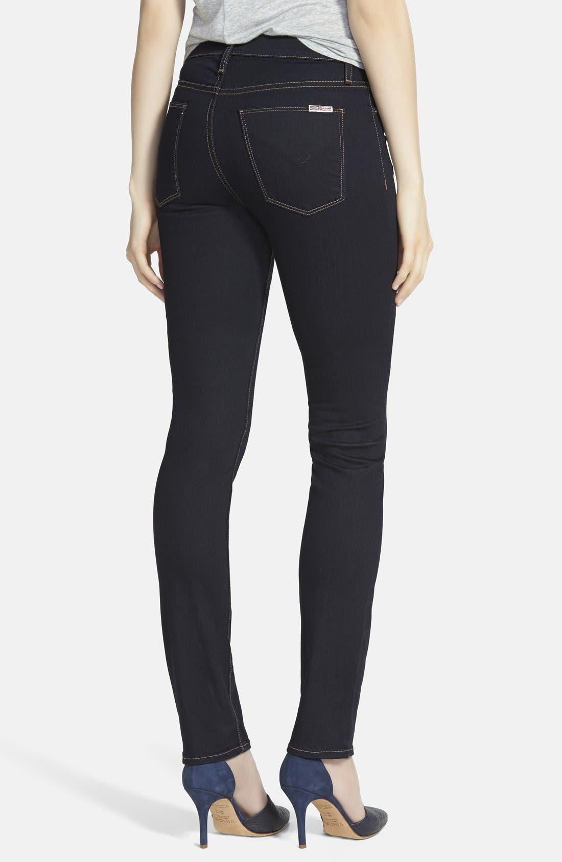 Alternate Image 2  - Hudson Jeans 'Tilda' Mid Rise Straight Leg Jeans (Storm)