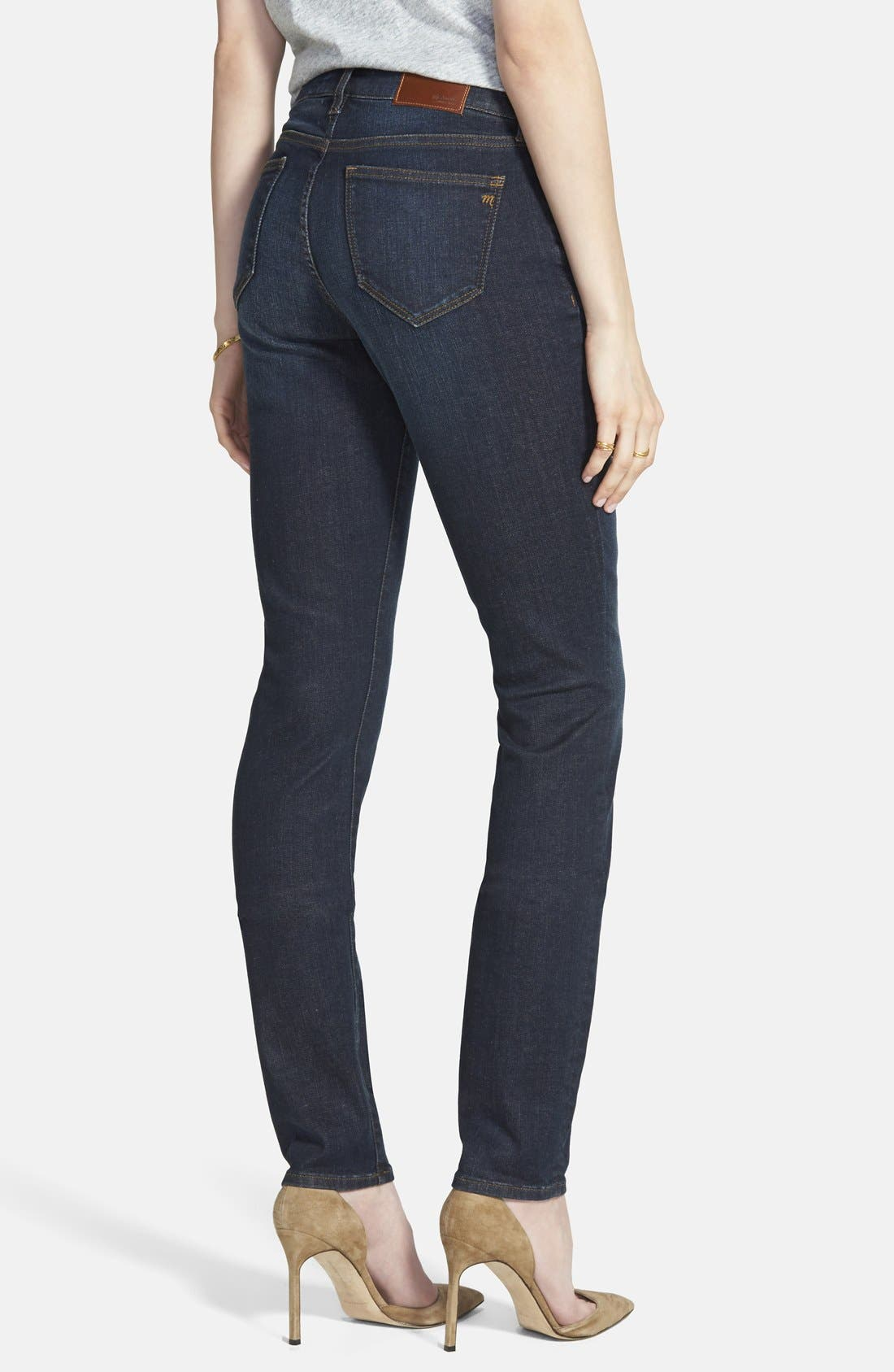 Alternate Image 2  - Madewell 'Alley' Straight Leg Jeans (Waterfall)
