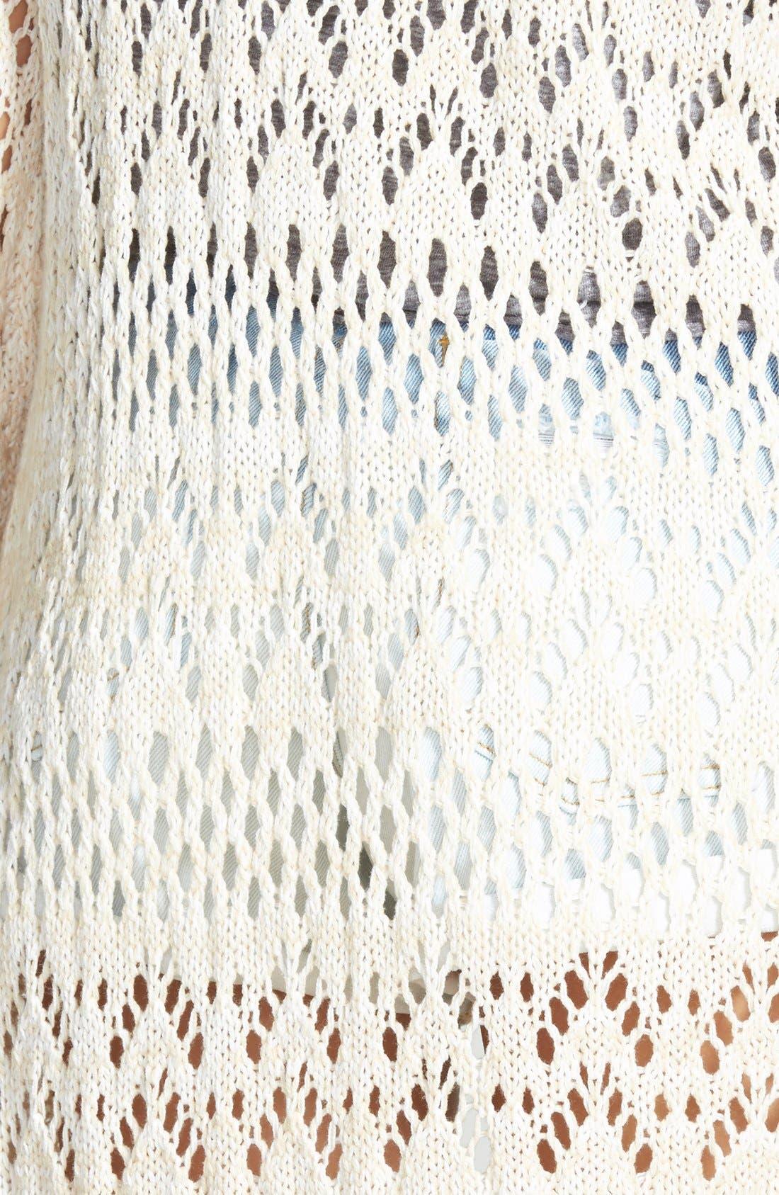 Alternate Image 3  - Billabong 'Full of Sunshine' Crochet Fringe Cardigan