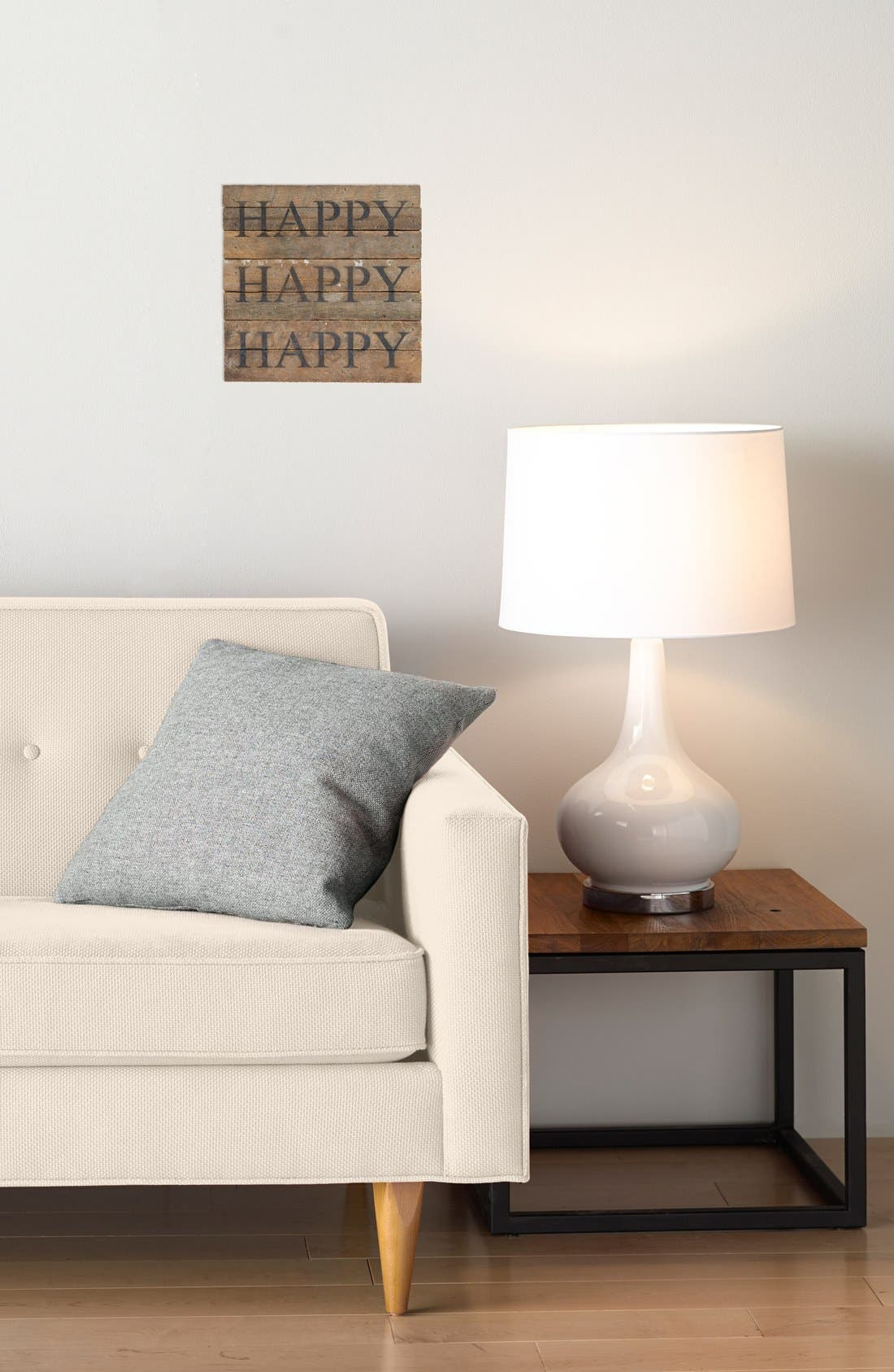 Alternate Image 2  - Second Nature by Hand 'Happy Happy Happy' Repurposed Wood Wall Art
