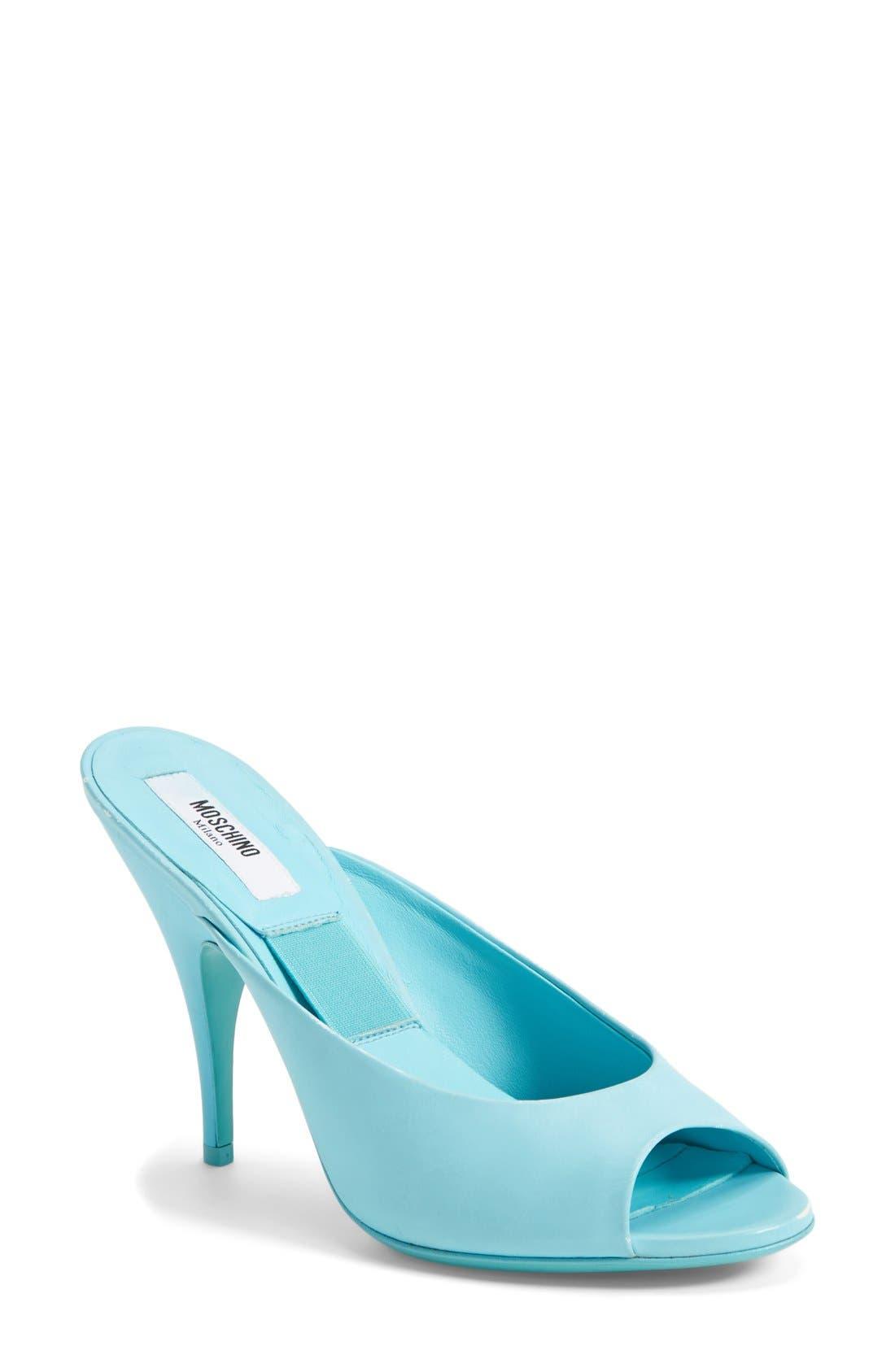 Alternate Image 1 Selected - Moschino Peep Toe Leather Sandal (Women)