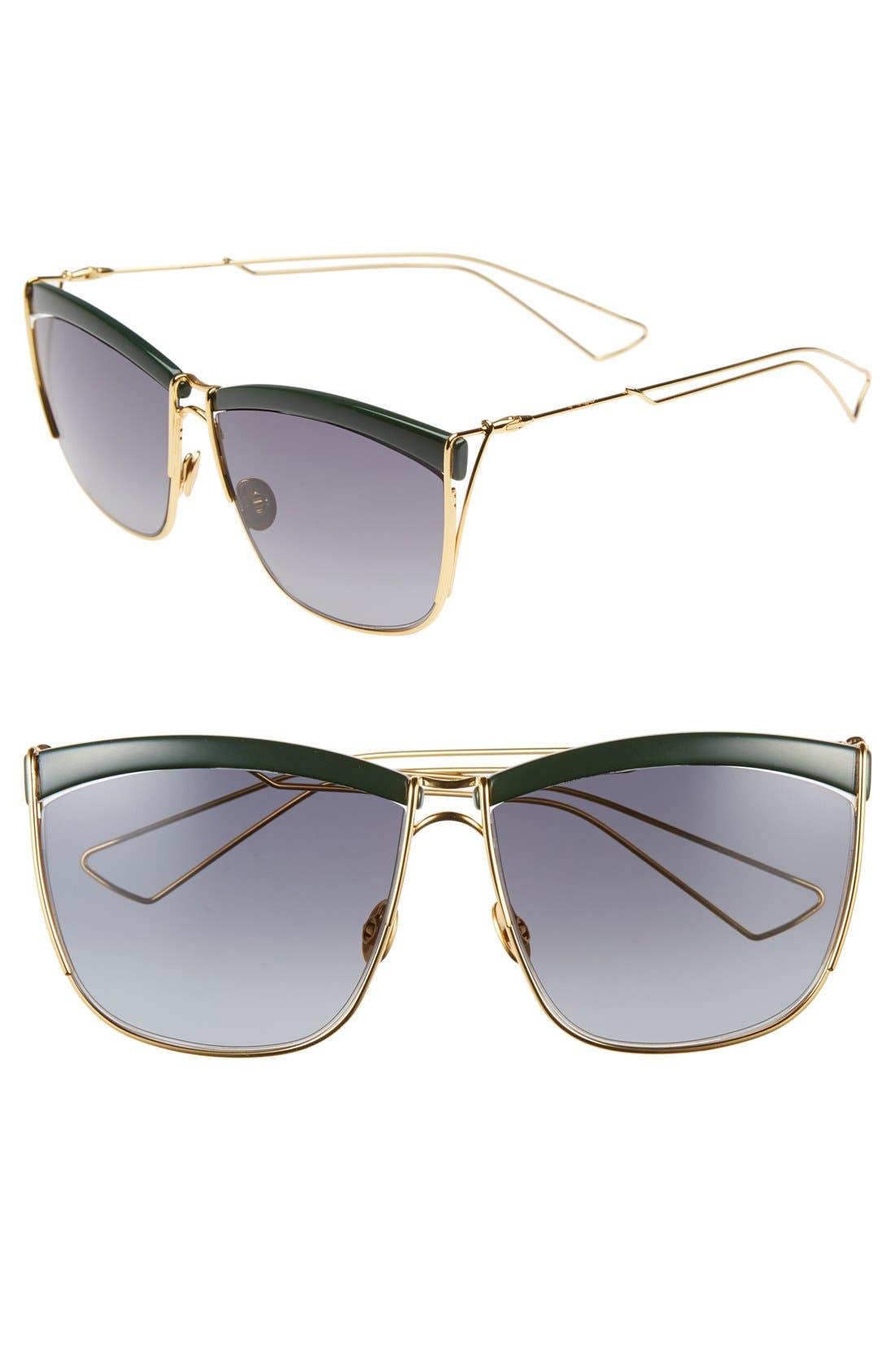 Alternate Image 1 Selected - Dior 58mm Retro Metal Sunglasses