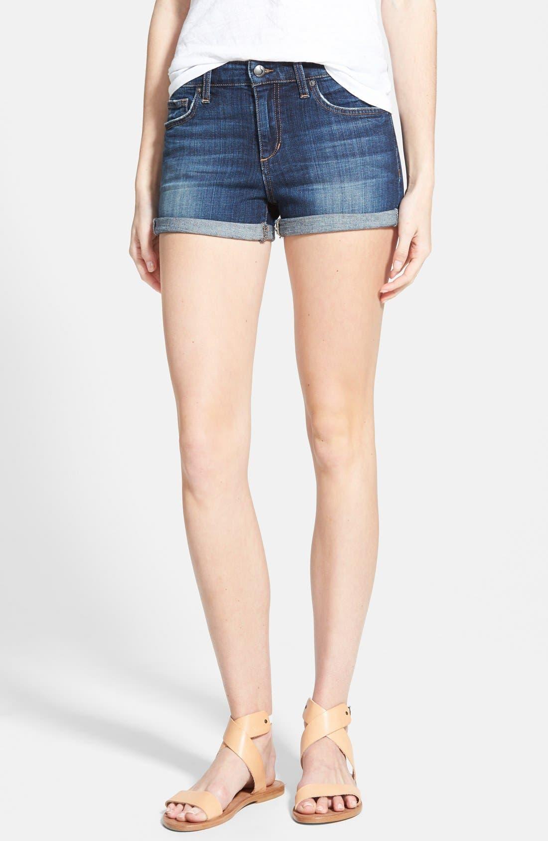 Main Image - Joe's Rolled Denim Shorts (Genna)