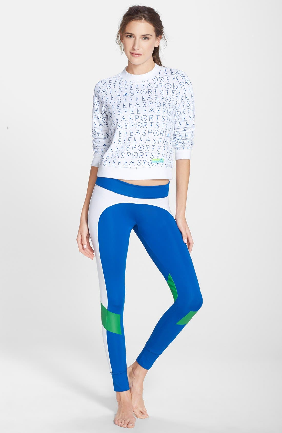 Alternate Image 3  - adidas by Stella McCartney Colorblock Training Tights