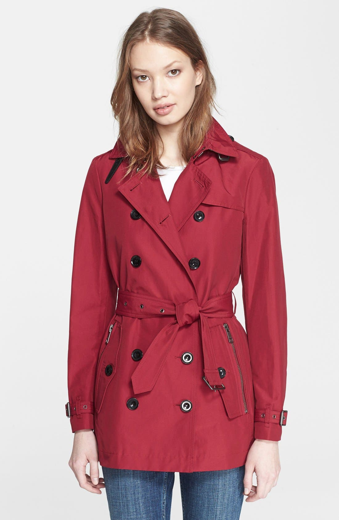 Alternate Image 1 Selected - Burberry Brit 'Brooksby' Double Breasted Trench Coat