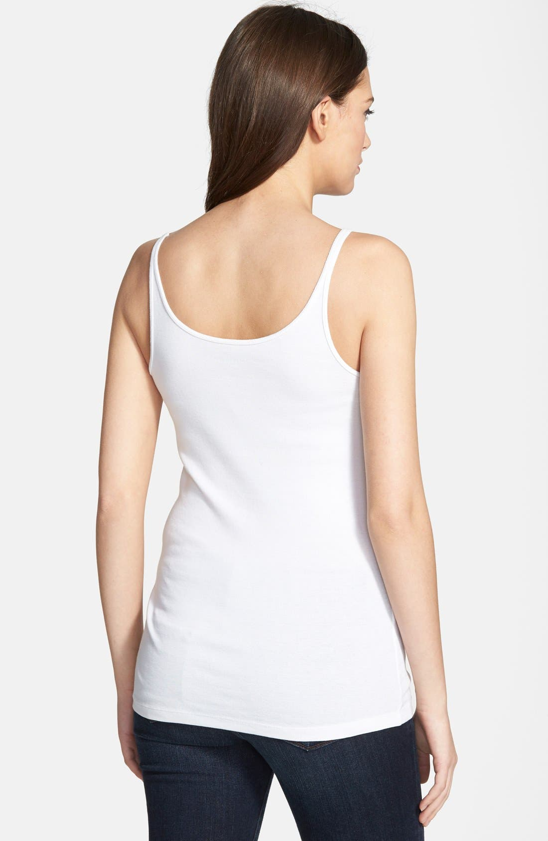 Alternate Image 2  - Eileen Fisher Organic Cotton Tank (Regular & Petite)