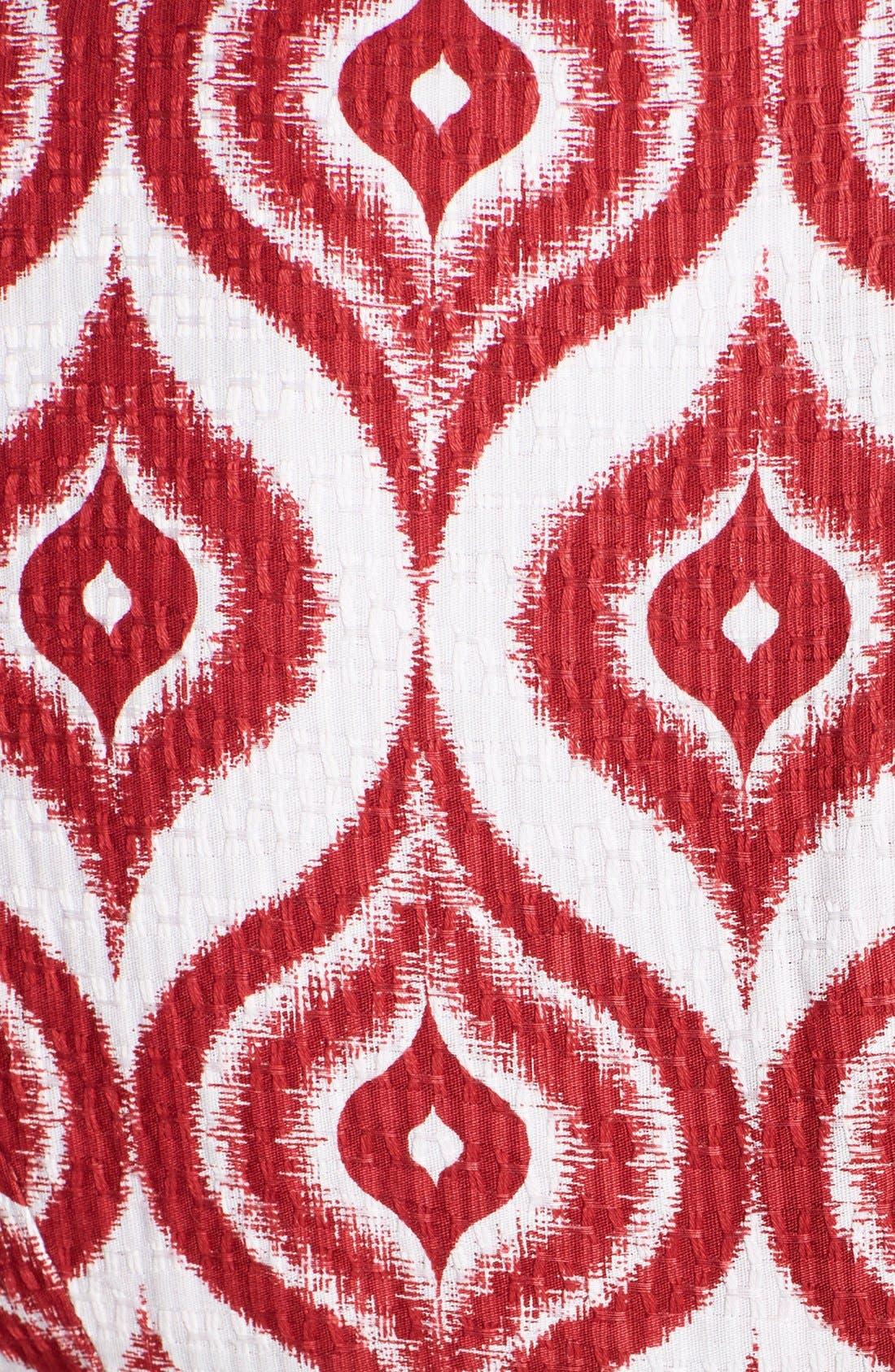 Alternate Image 4  - Taylor Dresses Cotton Jacquard Fit & Flare Dress