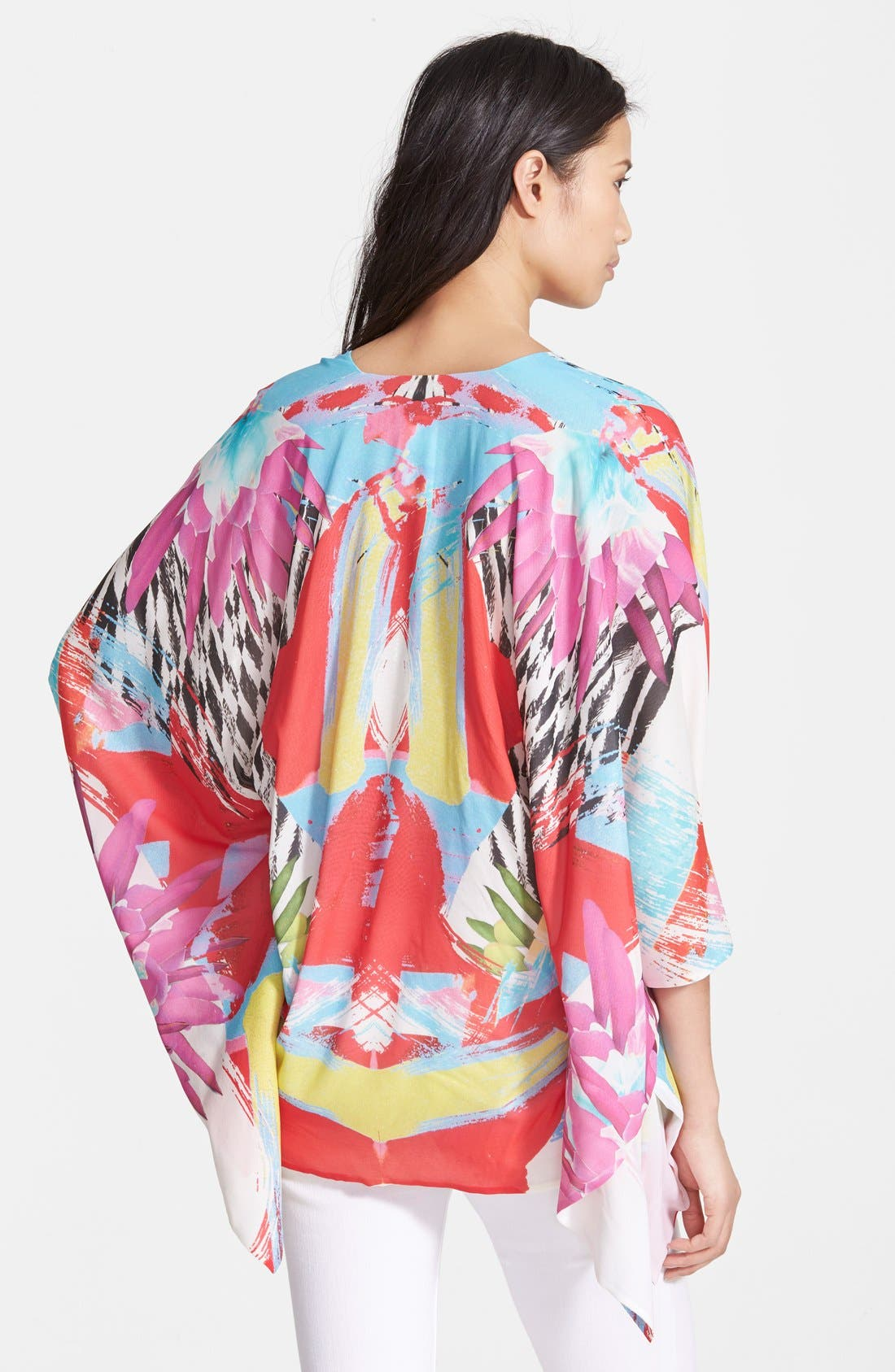 Alternate Image 2  - Just Cavalli 'Kings Love' Print Stretch Silk Tunic Top