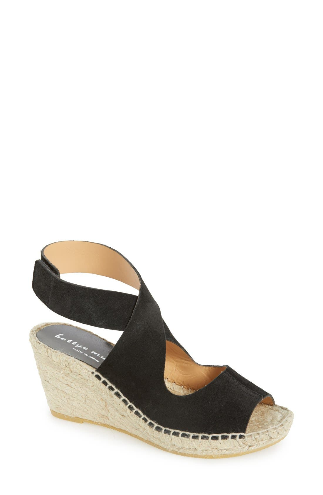 BETTYE MULLER 'Mobile' Leather Wedge Espadrille Sandal