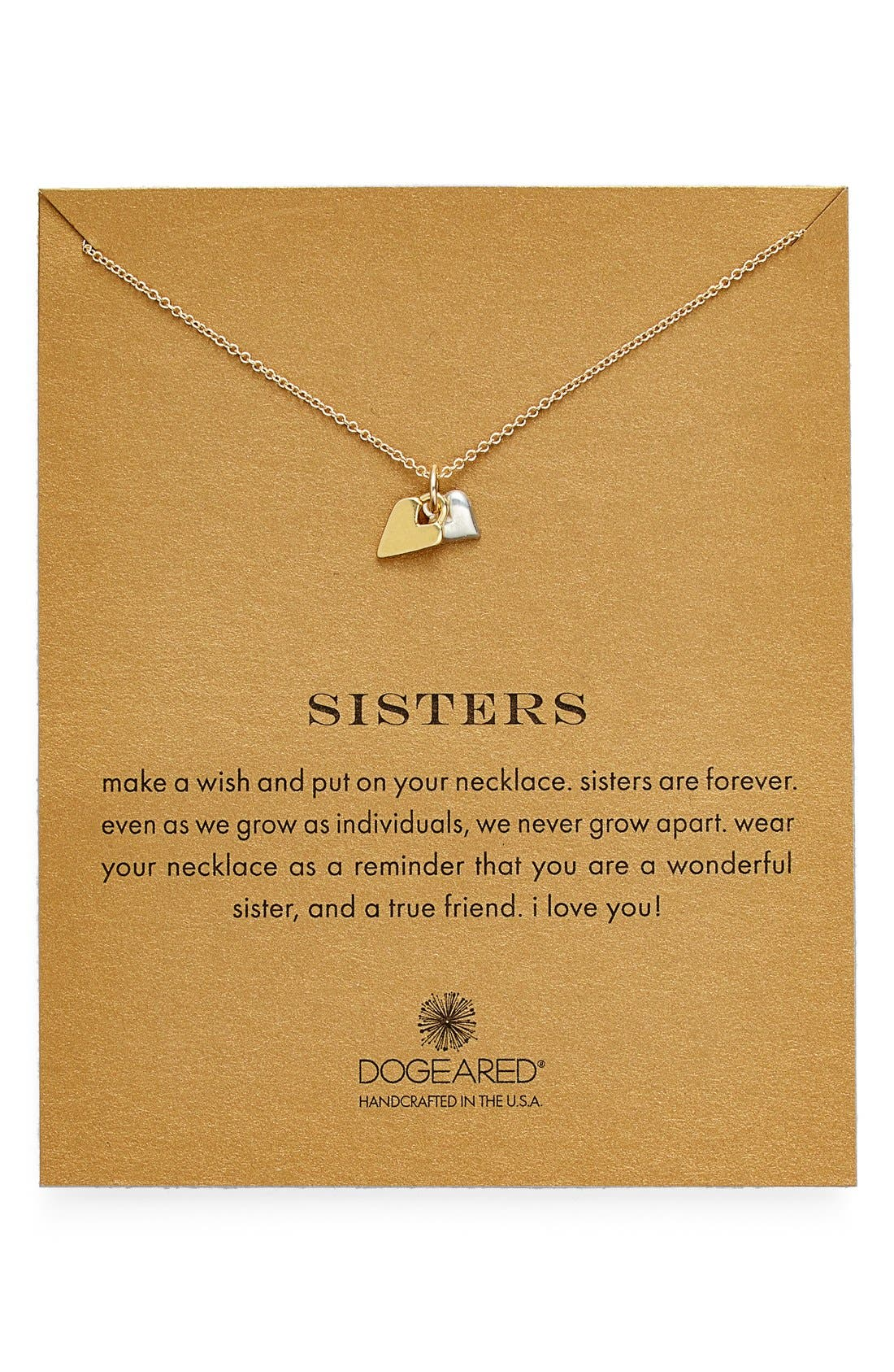 Main Image - Dogeared 'Reminder - Sisters' Pendant Necklace (Nordstrom Exclusive)