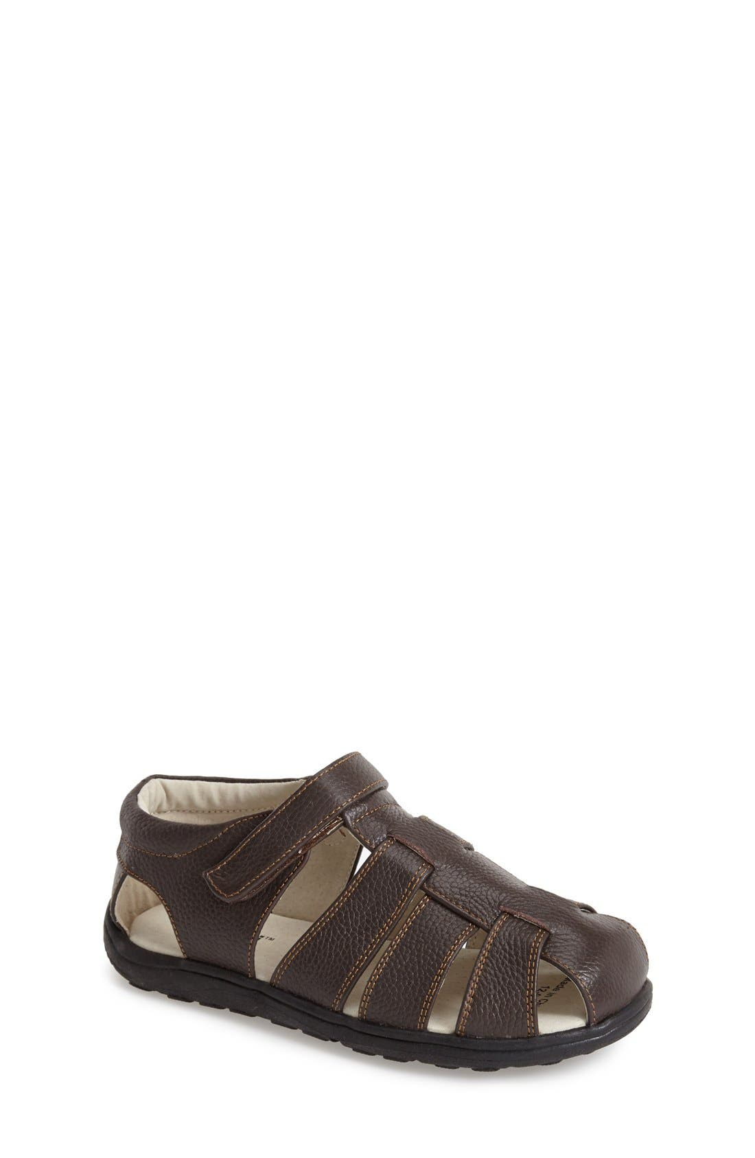 See Kai Run 'Dillon II' Leather Fisherman Sandal (Toddler & Little Kid)