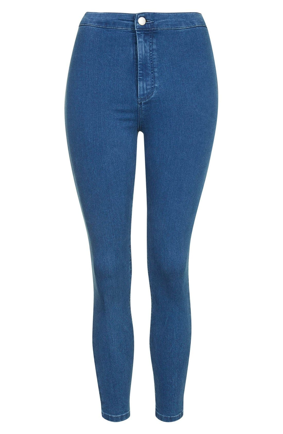 Alternate Image 4  - Topshop Moto 'Joni' High Rise Super Skinny Jeans (Mid Denim) (Petite)
